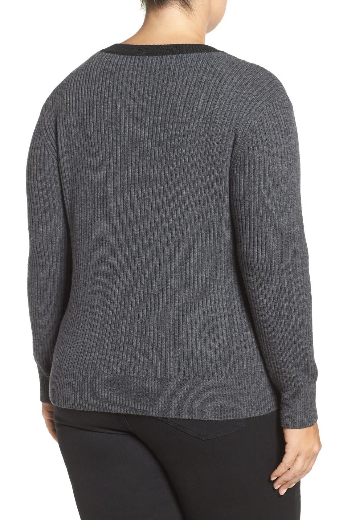 Alternate Image 2  - Tart Amity Lace-Up Merino Sweater (Plus Size)