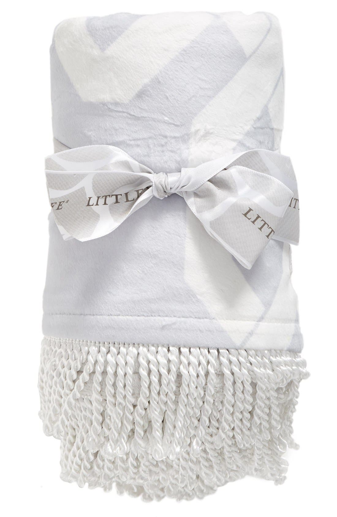Bliss<sup>™</sup> Windowpane Blanket,                         Main,                         color, Silver