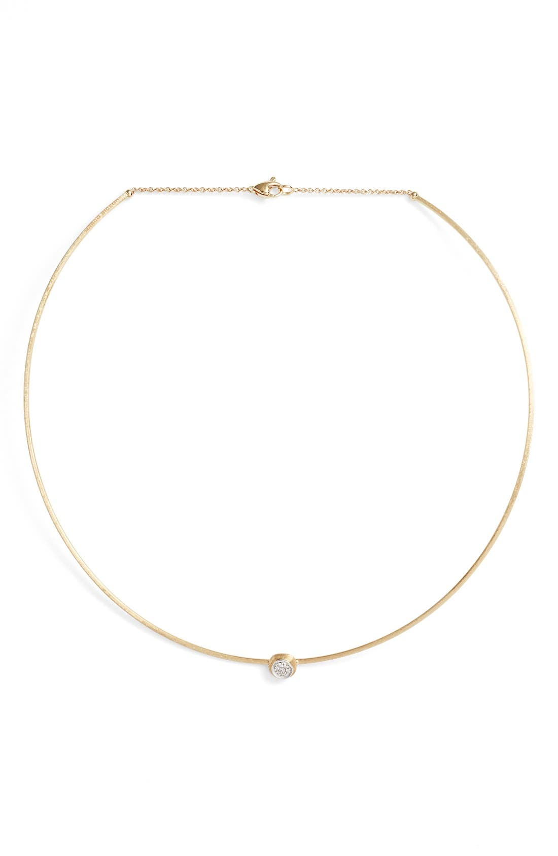 Diamond Collar Necklace,                             Main thumbnail 1, color,                             Yellow Gold