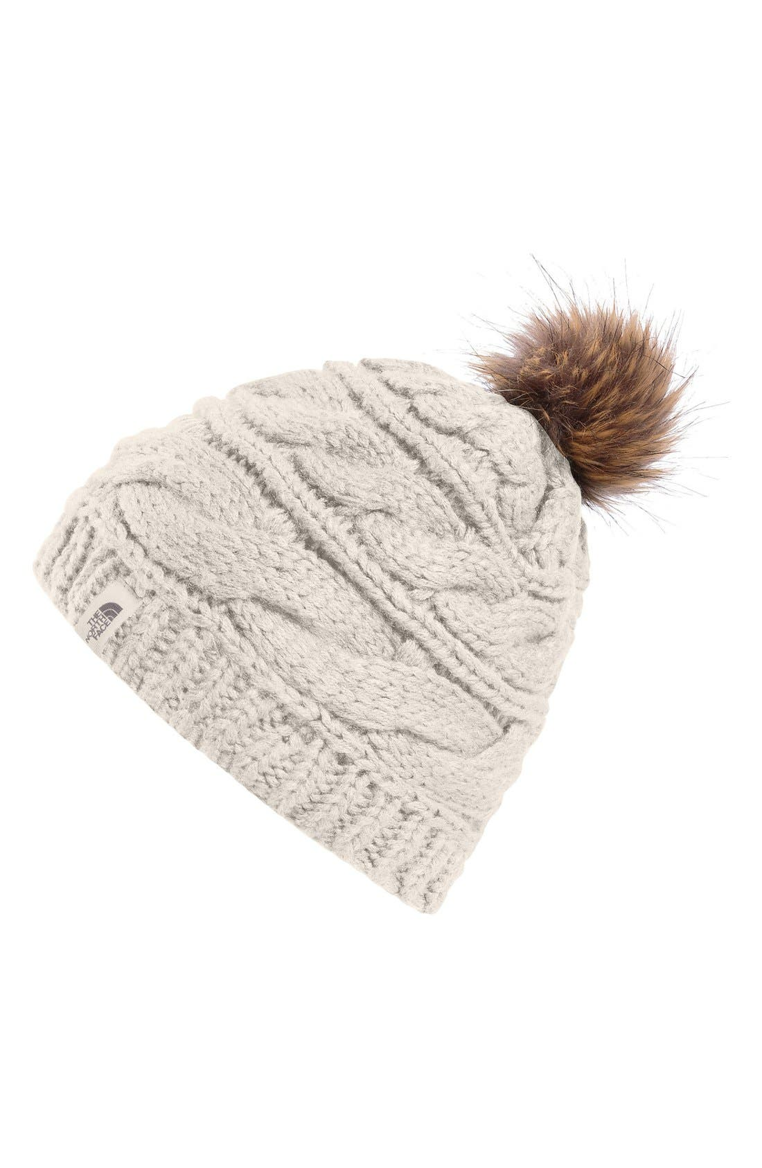 Alternate Image 1 Selected - The North Face Triple Cable Pom Beanie