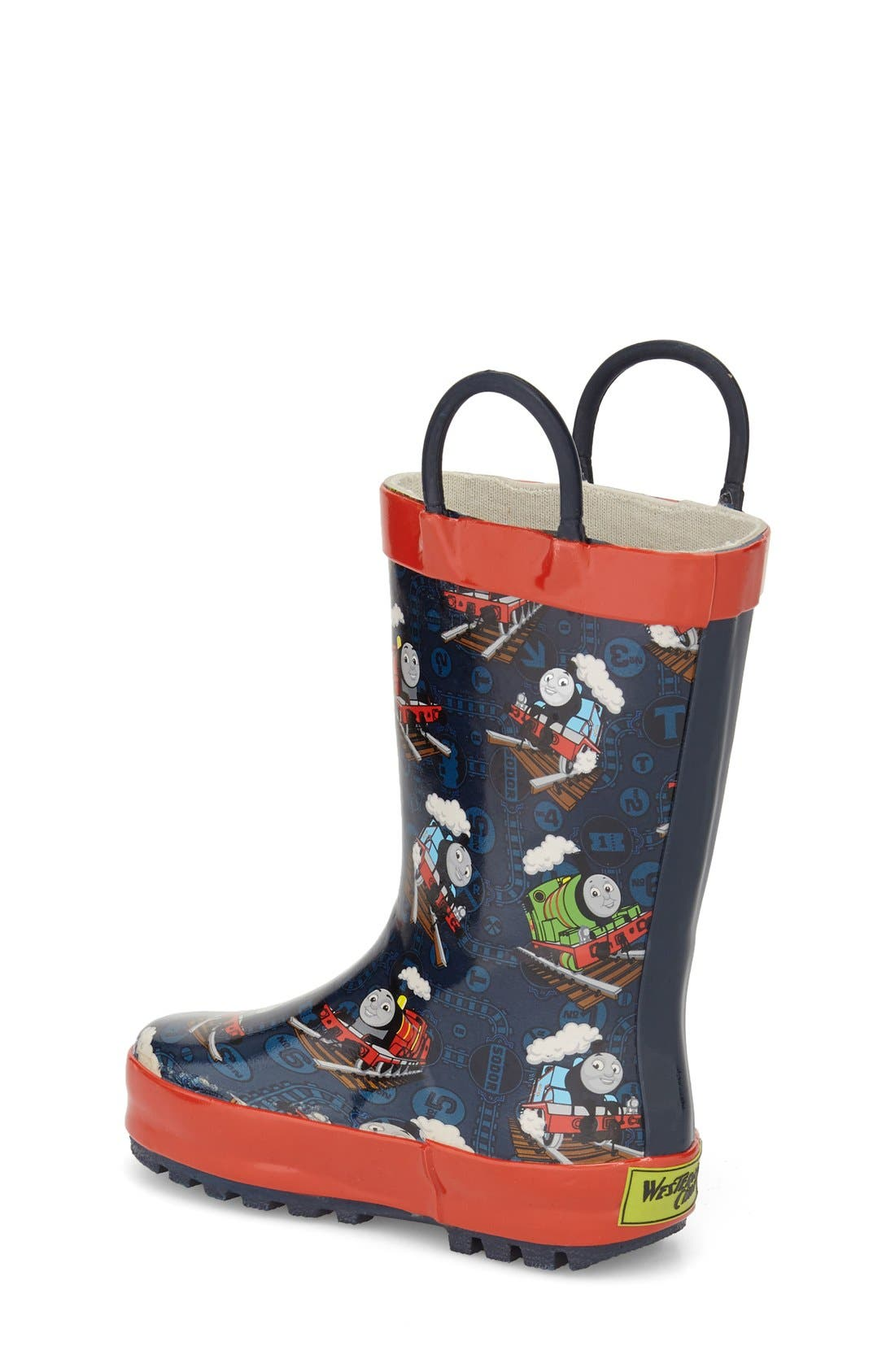 Thomas & Friends<sup>®</sup> Rain Boot,                             Alternate thumbnail 2, color,                             Navy