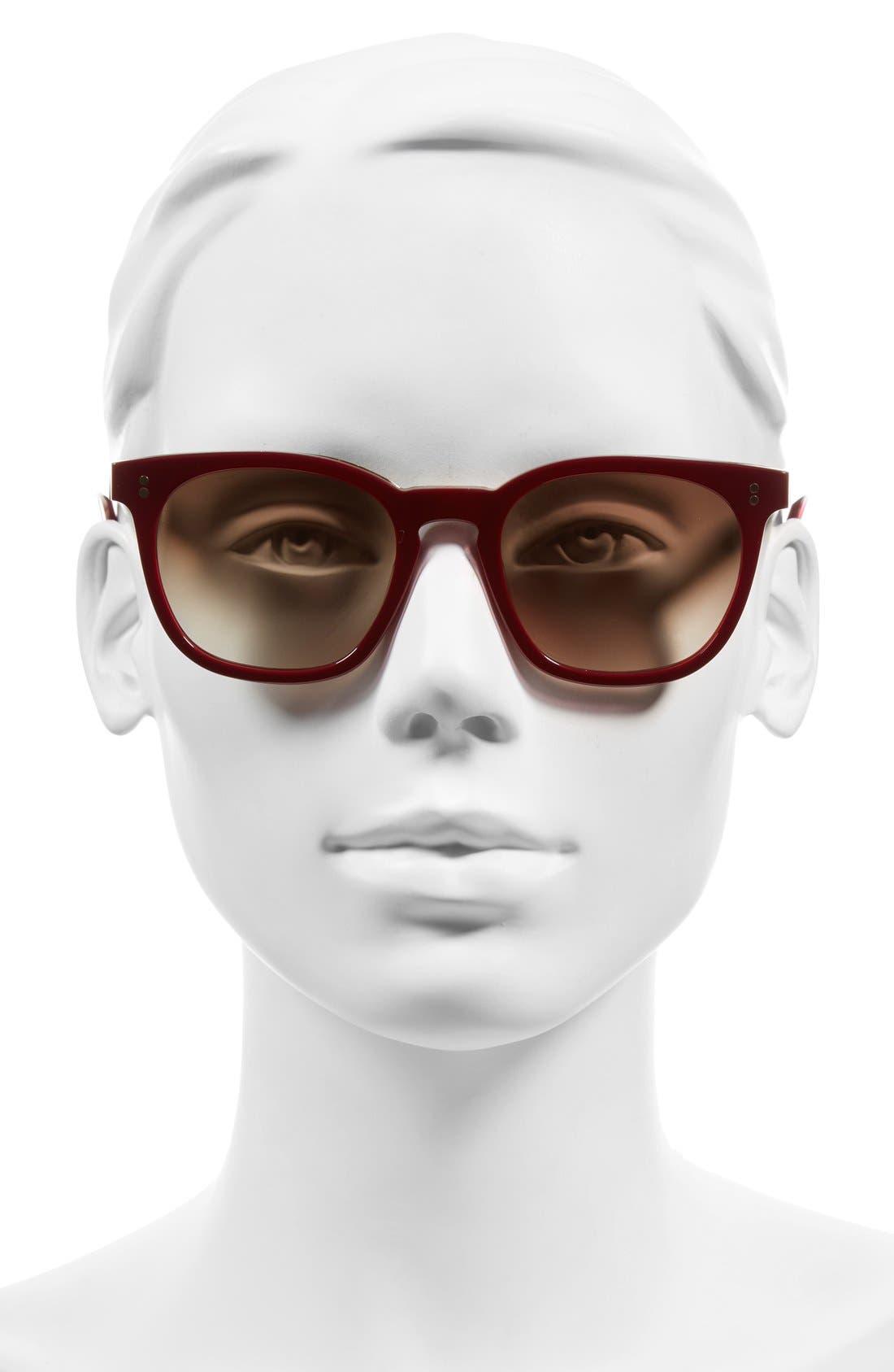 The Cassandra 50mm Sunglasses,                             Alternate thumbnail 2, color,                             Red