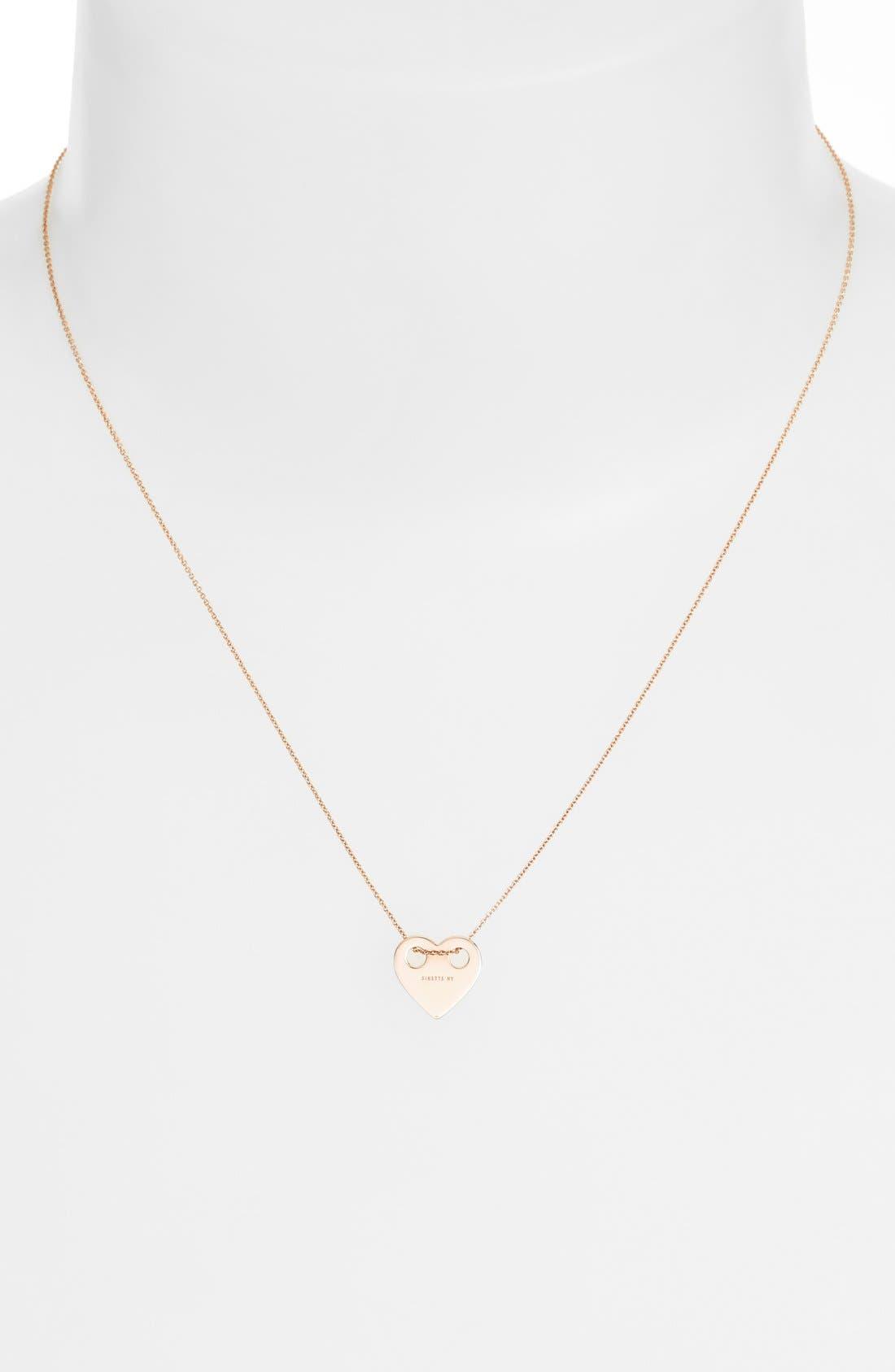 Alternate Image 2  - ginette ny Mini Heart Pendant Necklace