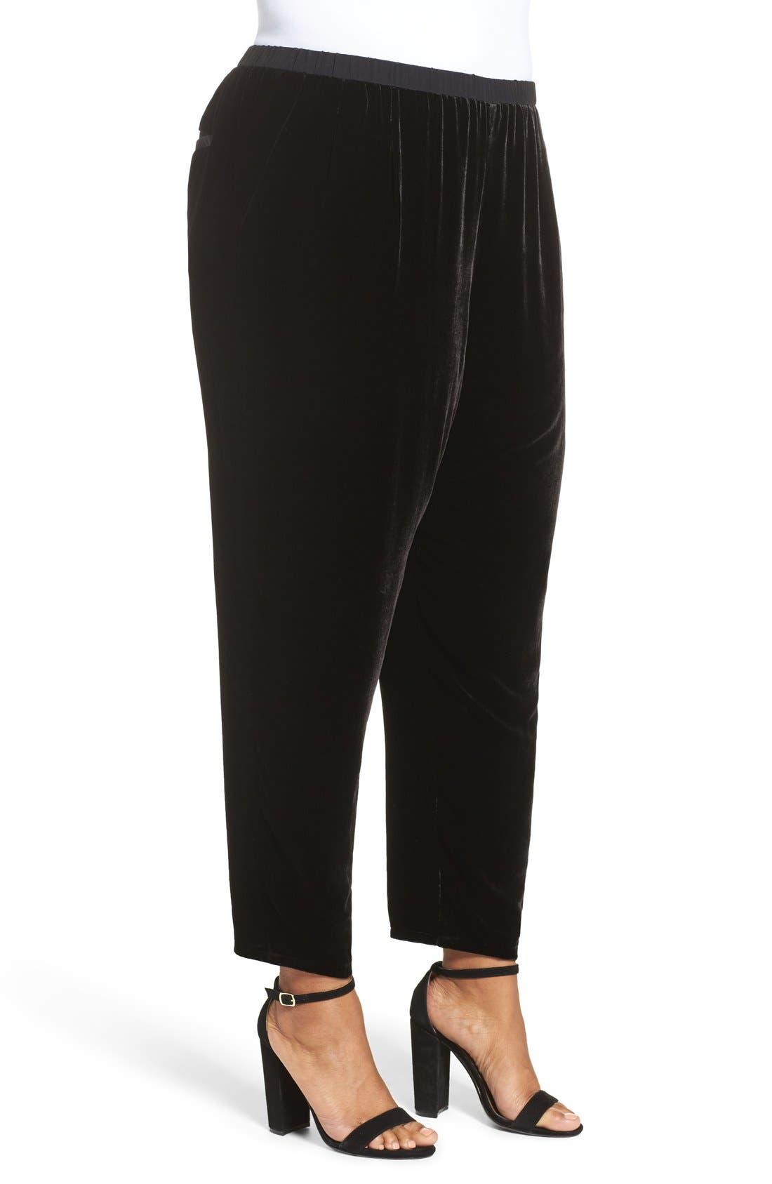 Alternate Image 3  - Eileen Fisher Velvet Ankle Pants (Plus Size)