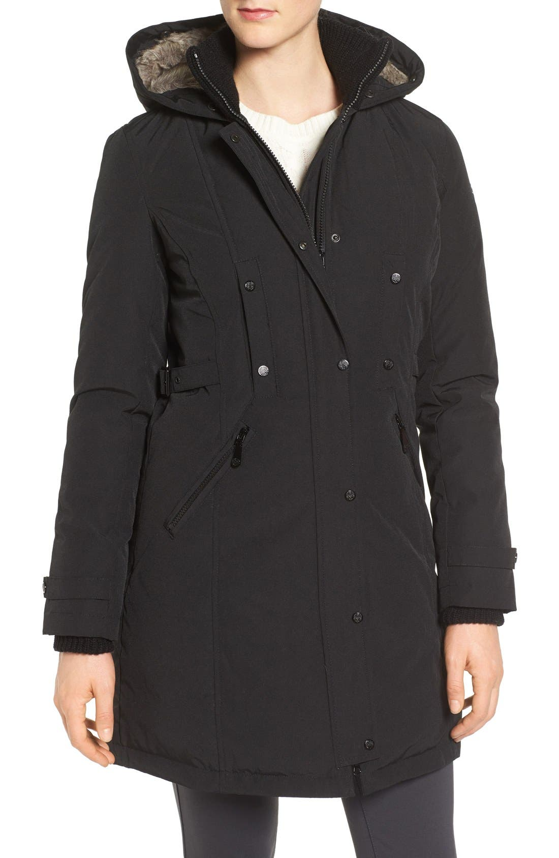 Alternate Image 4  - Vince Camuto Faux Fur Trim Down & Feather Fill Parka