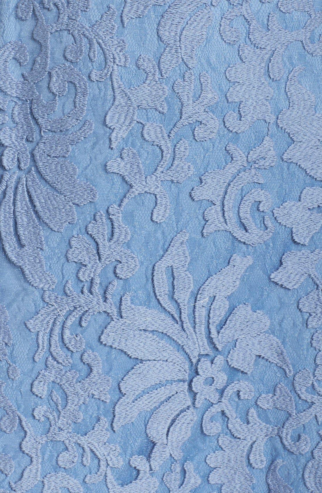 Lace Overlay Dress,                             Alternate thumbnail 7, color,                             Bluestone