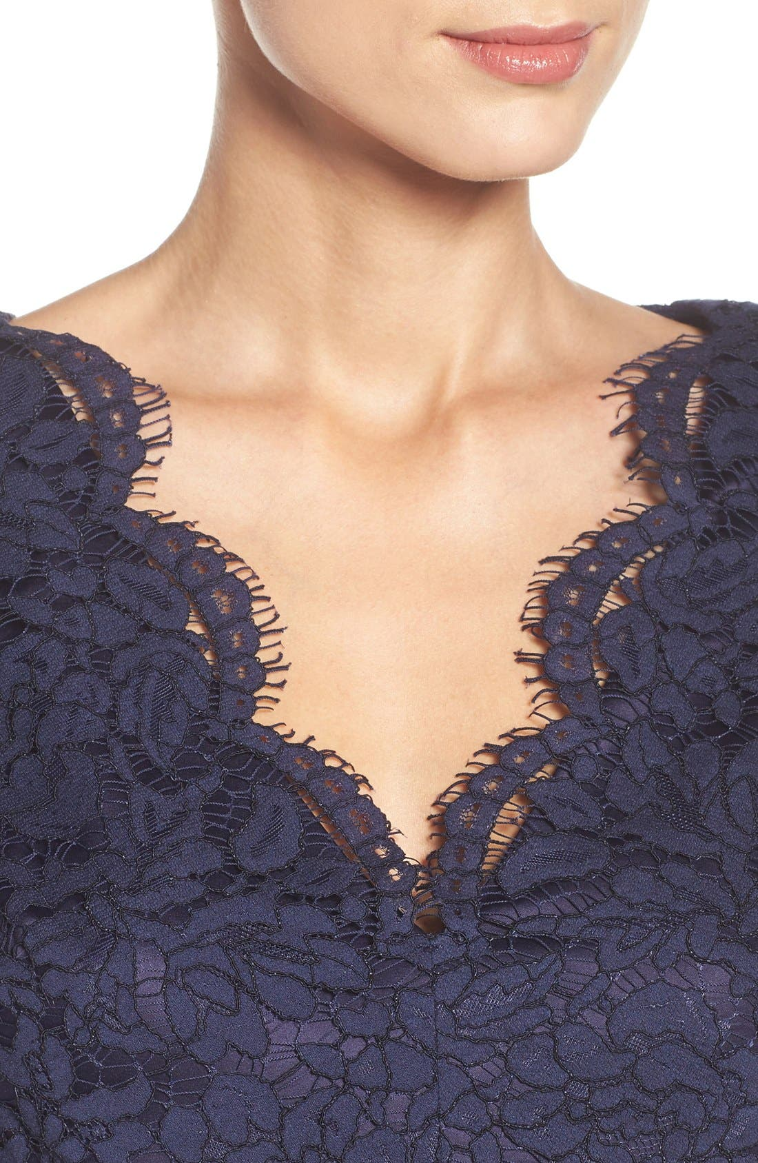 Alternate Image 5  - Eliza J Lace Fit & Flare Dress