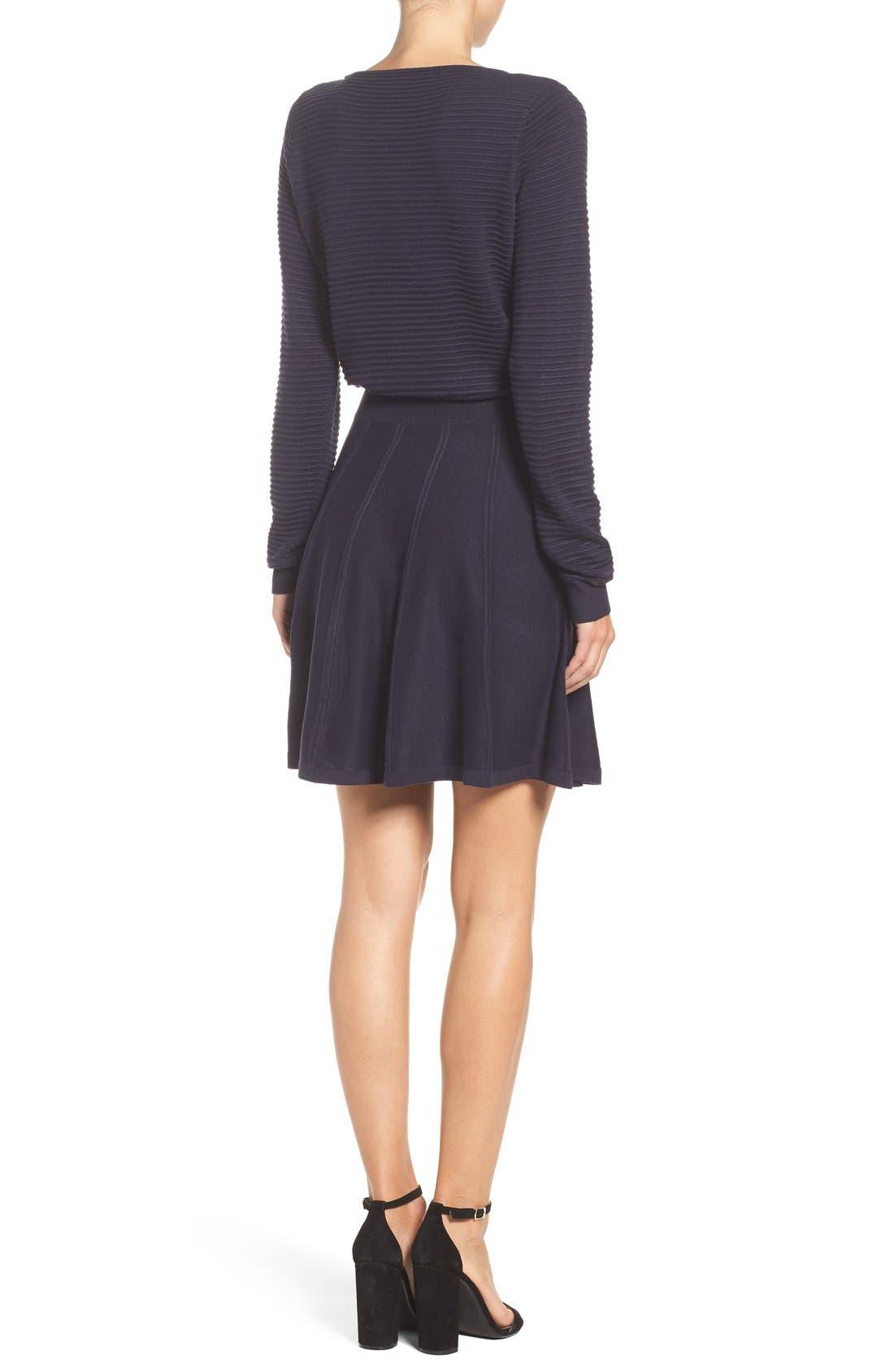 Alternate Image 3  - Eliza J Sweater Fit & Flare Dress