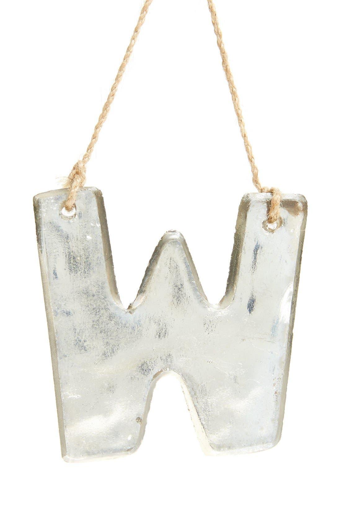 Nordstrom at Home Handblown Glass Alphabet Ornament
