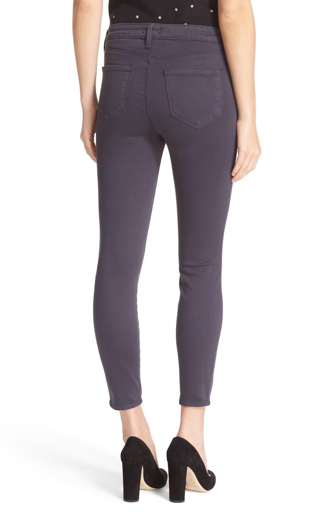 High Waist Skinny Ankle Jeans,                             Alternate thumbnail 3, color,                             Stingray
