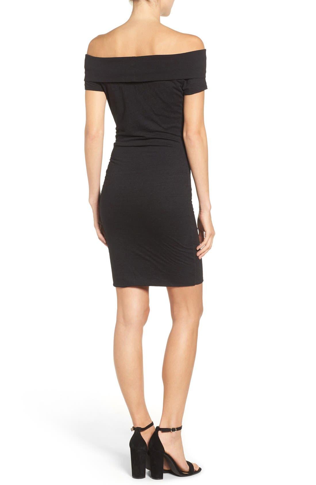 Alternate Image 2  - Pam & Gela Off the Shoulder Body-Con Dress