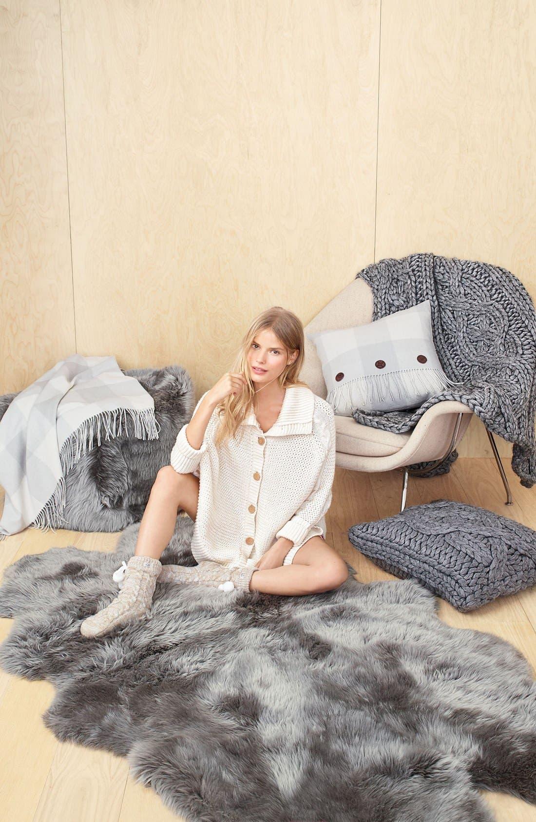 Alternate Image 4  - UGG® Fleece Lined Socks