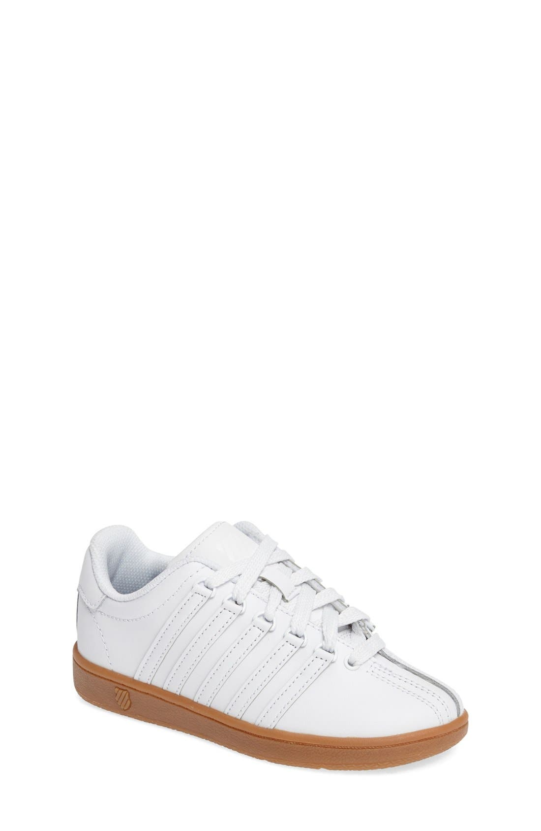 'Classic' Sneaker,                             Main thumbnail 1, color,                             White/ Gum