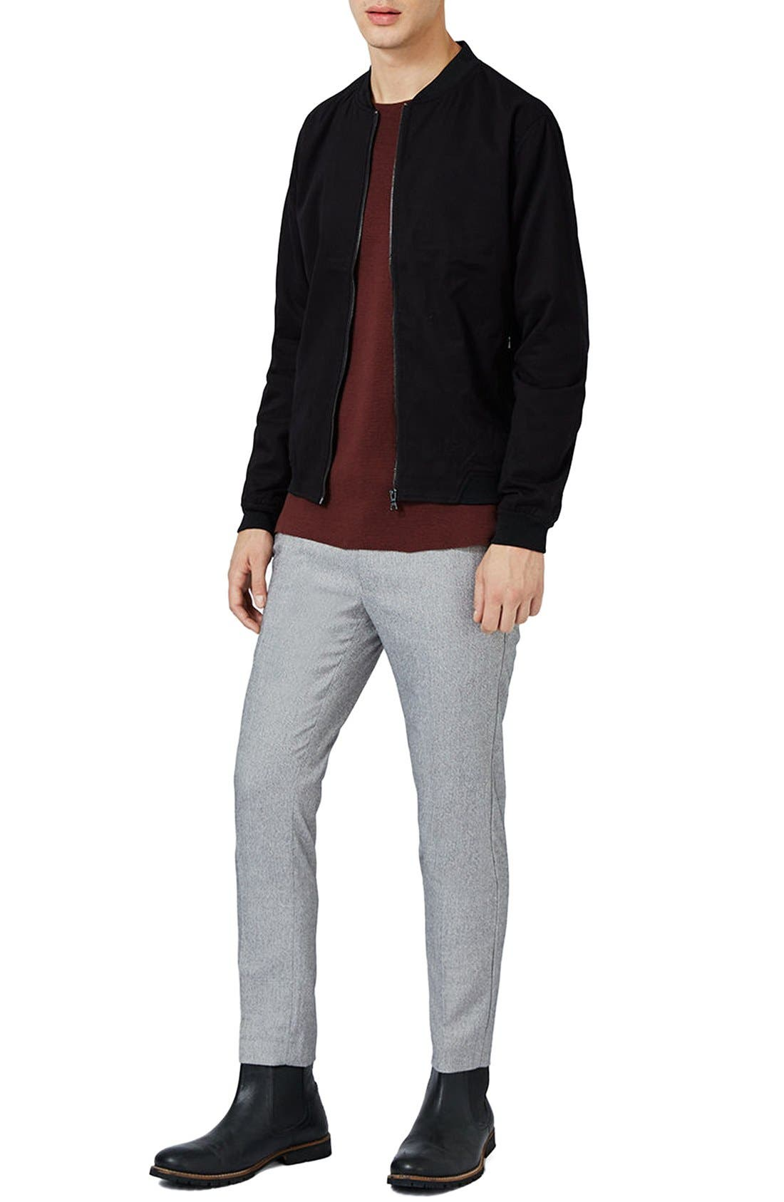 Cotton Bomber Jacket,                             Alternate thumbnail 2, color,                             Black