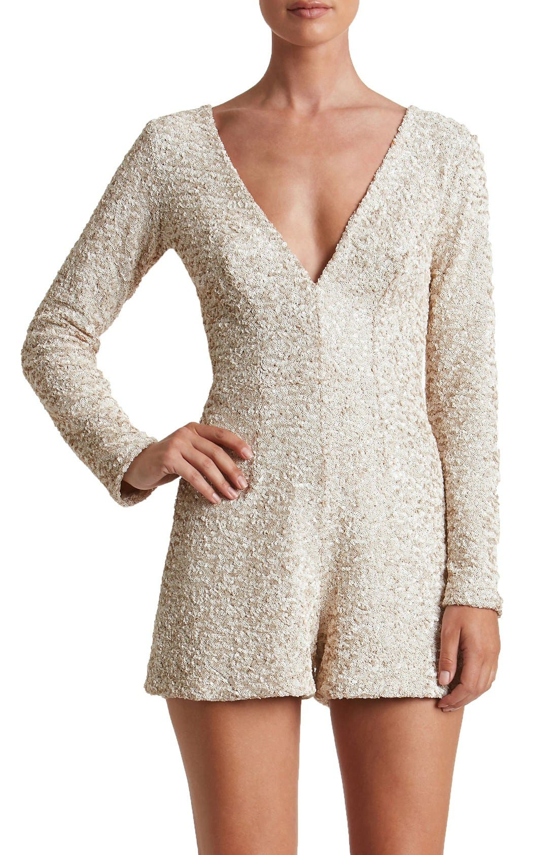 Main Image - Dress the Population Bianca Sequin Romper
