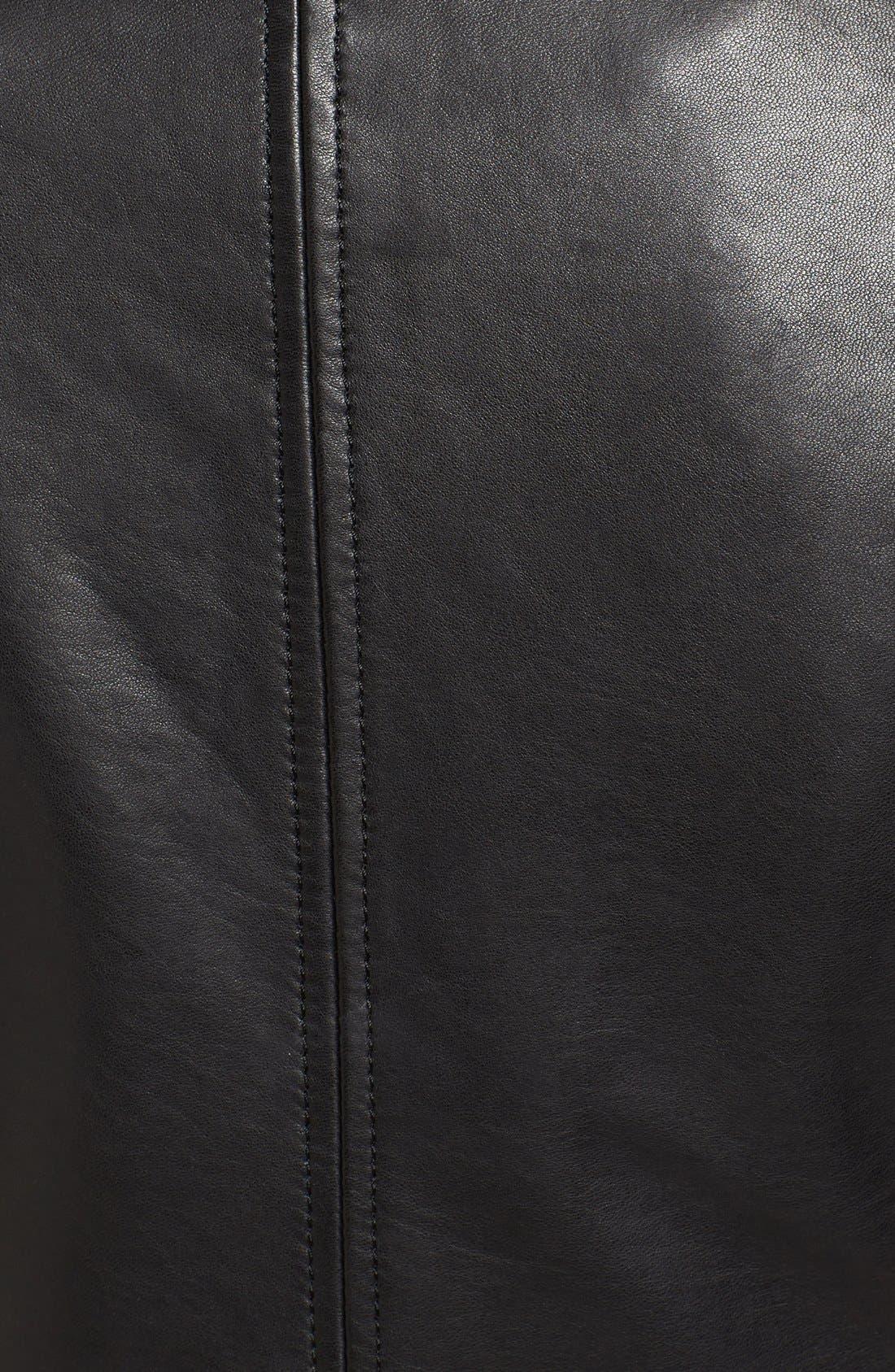 Alternate Image 5  - Bernardo Slim Fit Leather Moto Jacket