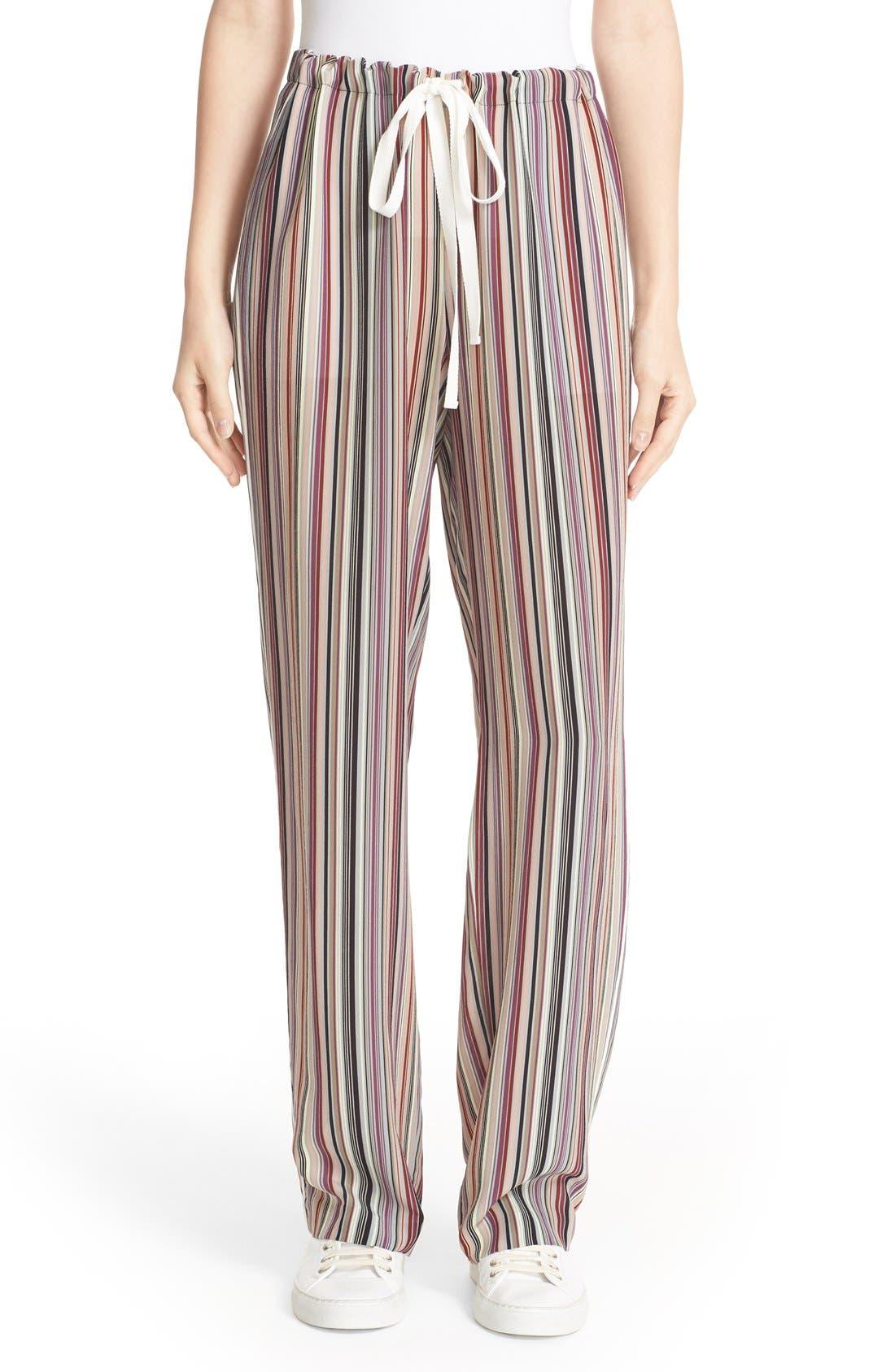 Alternate Image 1 Selected - Theory Winszlee Stripe Silk Pants