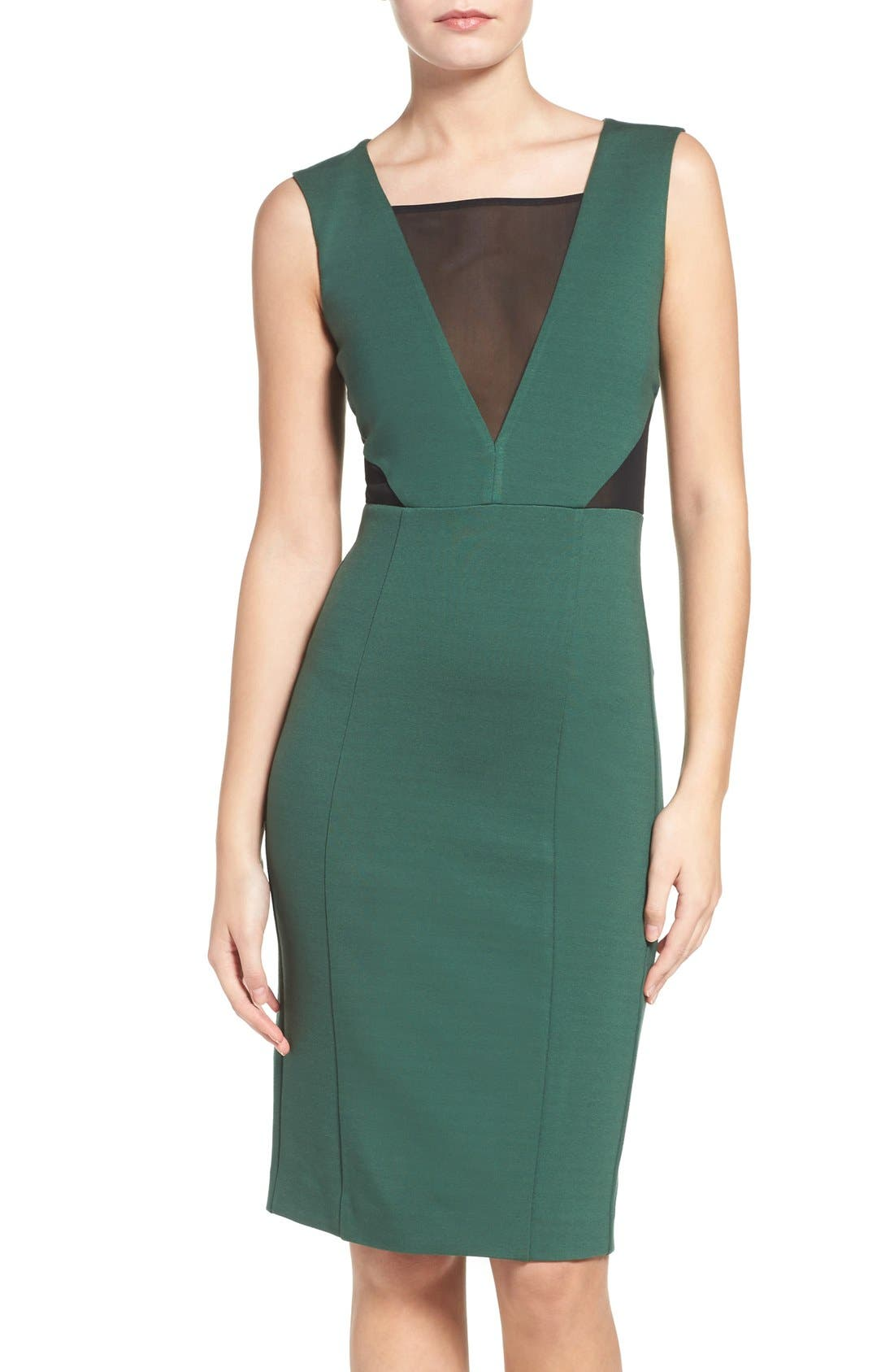 Lulu Body-Con Dress,                         Main,                         color, Pine Forest Green