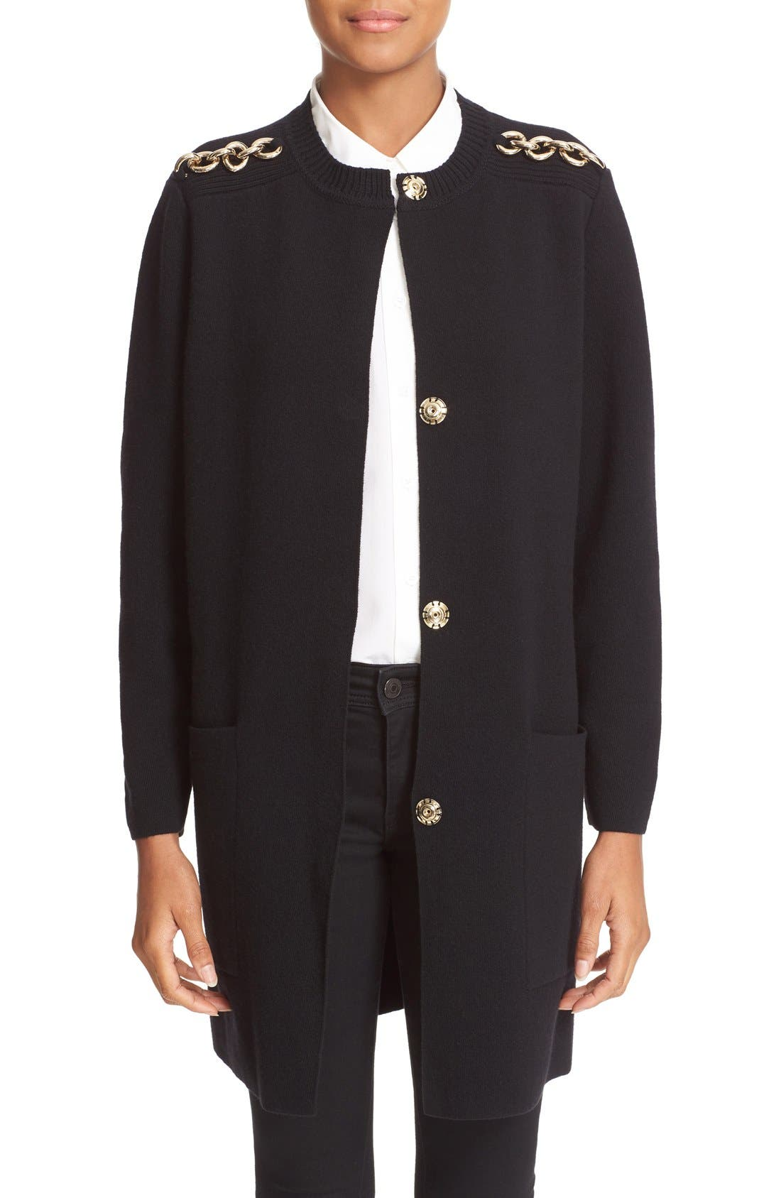 Alternate Image 1 Selected - Burberry Colbybrook Wool Blend Cardigan
