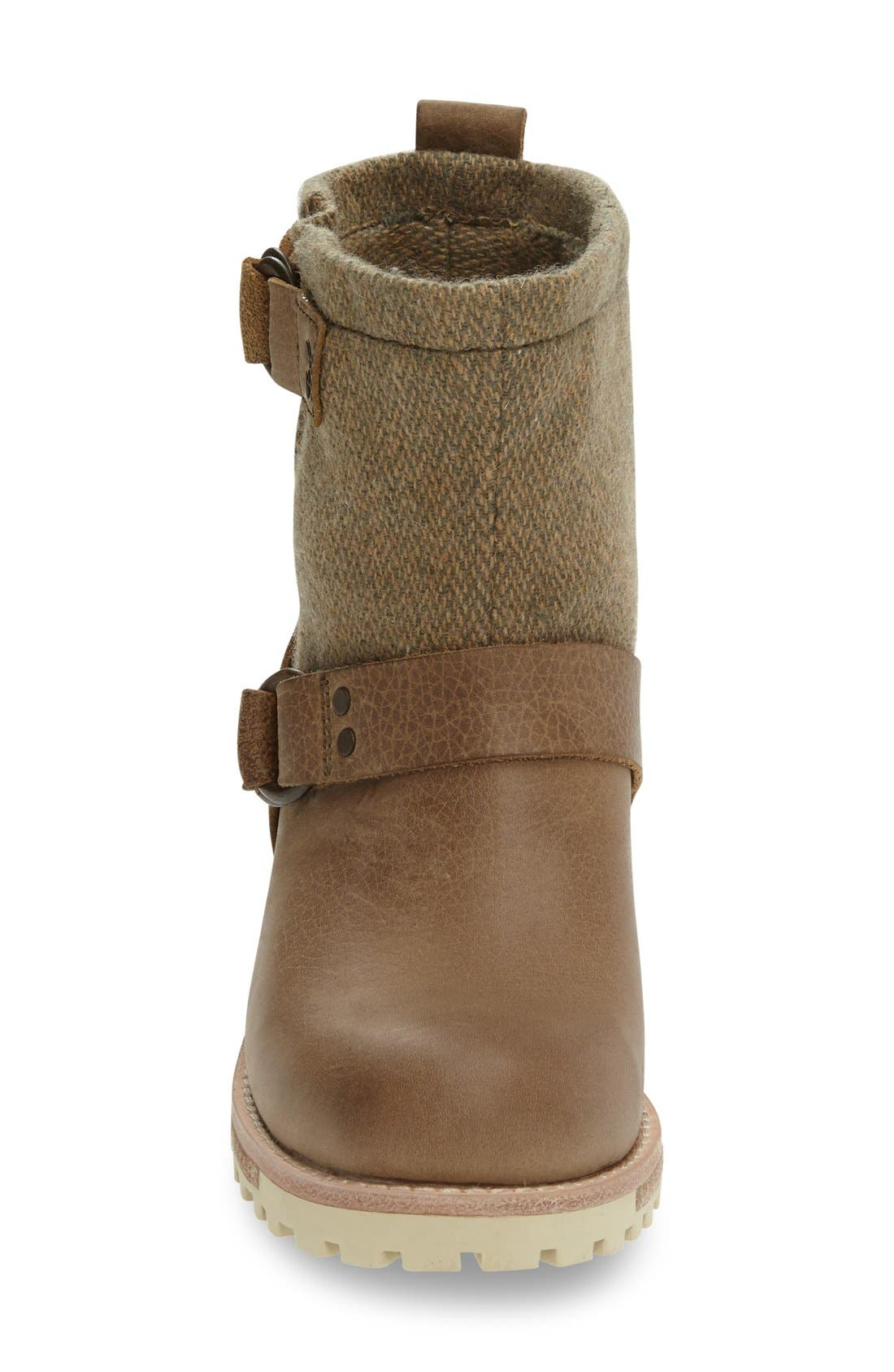 'Baltimore' Engineer Boot,                             Alternate thumbnail 3, color,                             Sand/ Tweed Leather