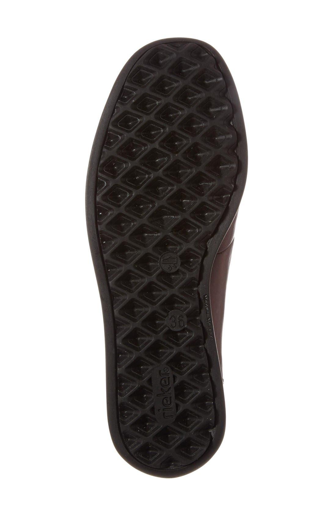 'Daphne' Wedge,                             Alternate thumbnail 4, color,                             Bordeaux Leather
