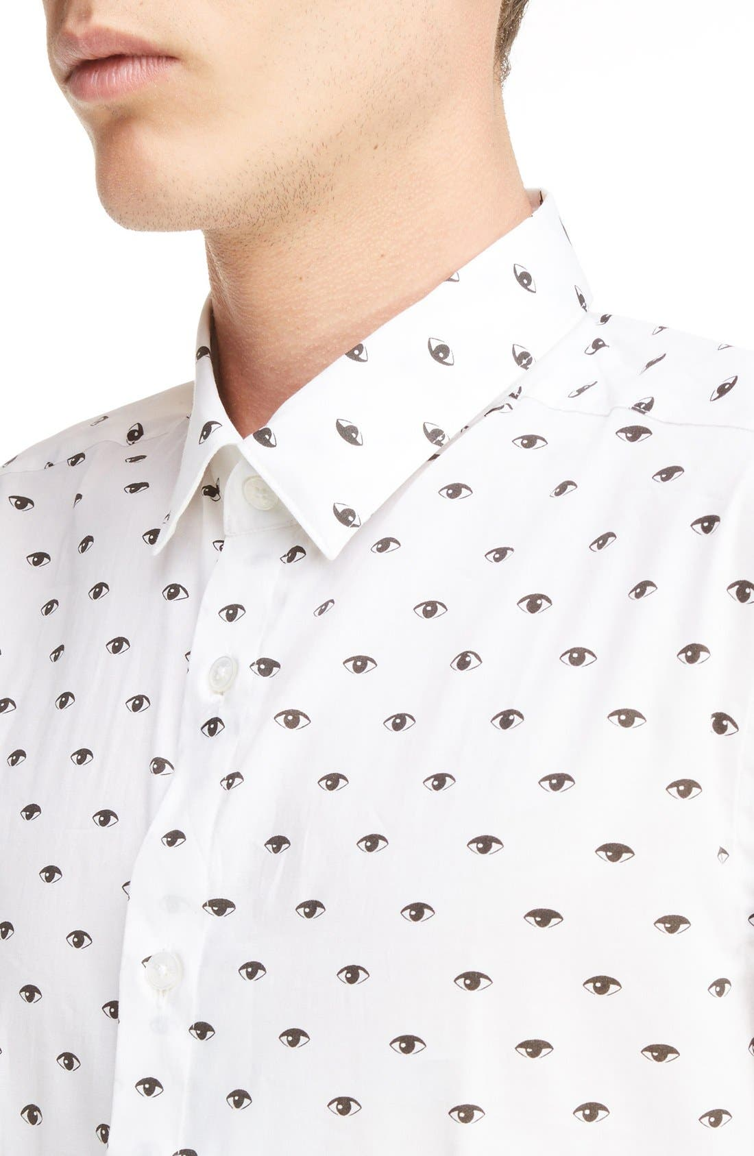 Alternate Image 4  - KENZO Eye Print Shirt