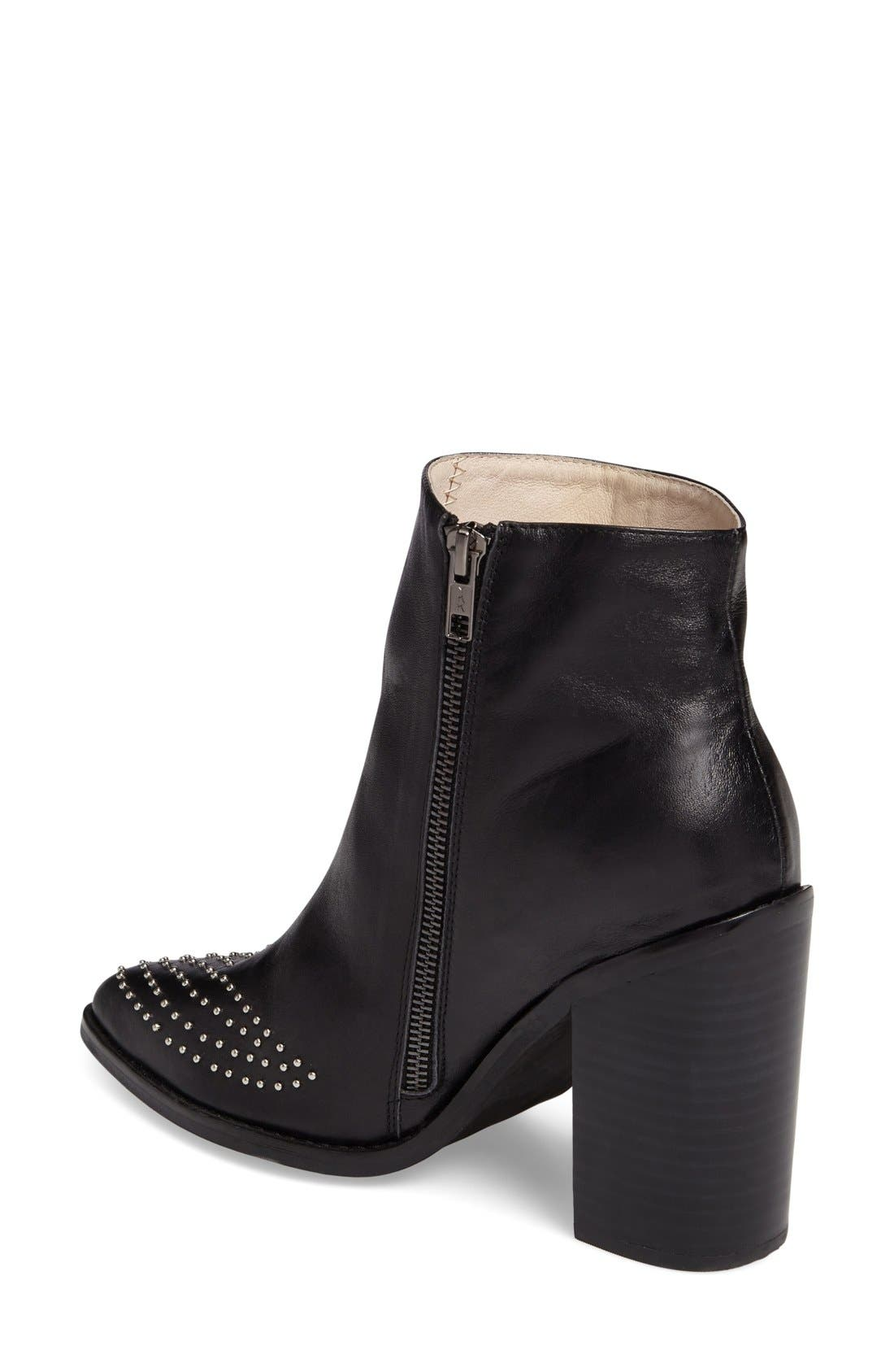 Joan Bootie,                             Alternate thumbnail 2, color,                             Black Leather