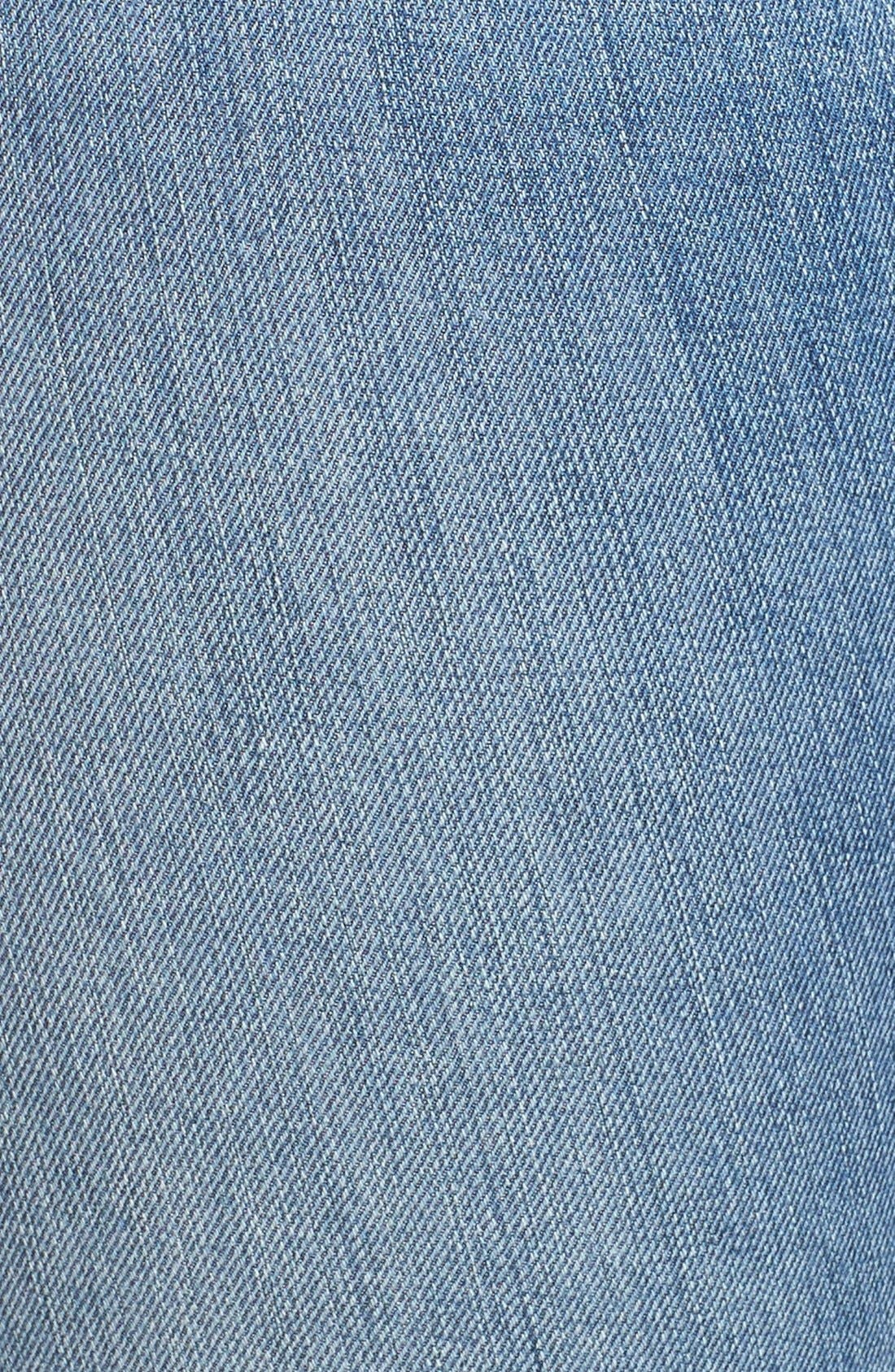 Alternate Image 10  - Good American Good Cuts High Rise Boyfriend Jeans (Blue 012) (Extended Sizes)