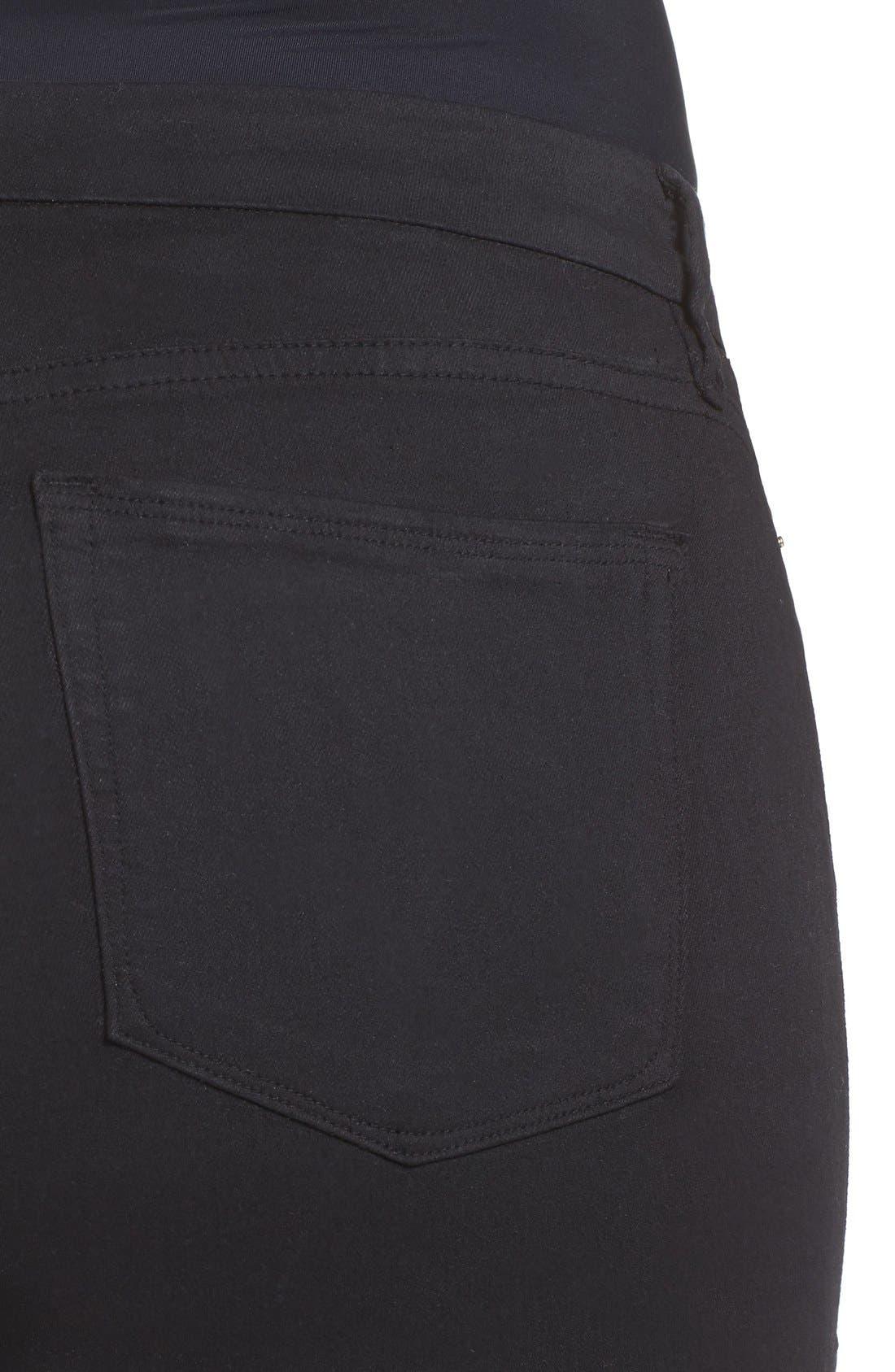 Alternate Image 9  - Good American Good Legs High Rise Skinny Jeans (Black 001) (Regular & Plus Size)