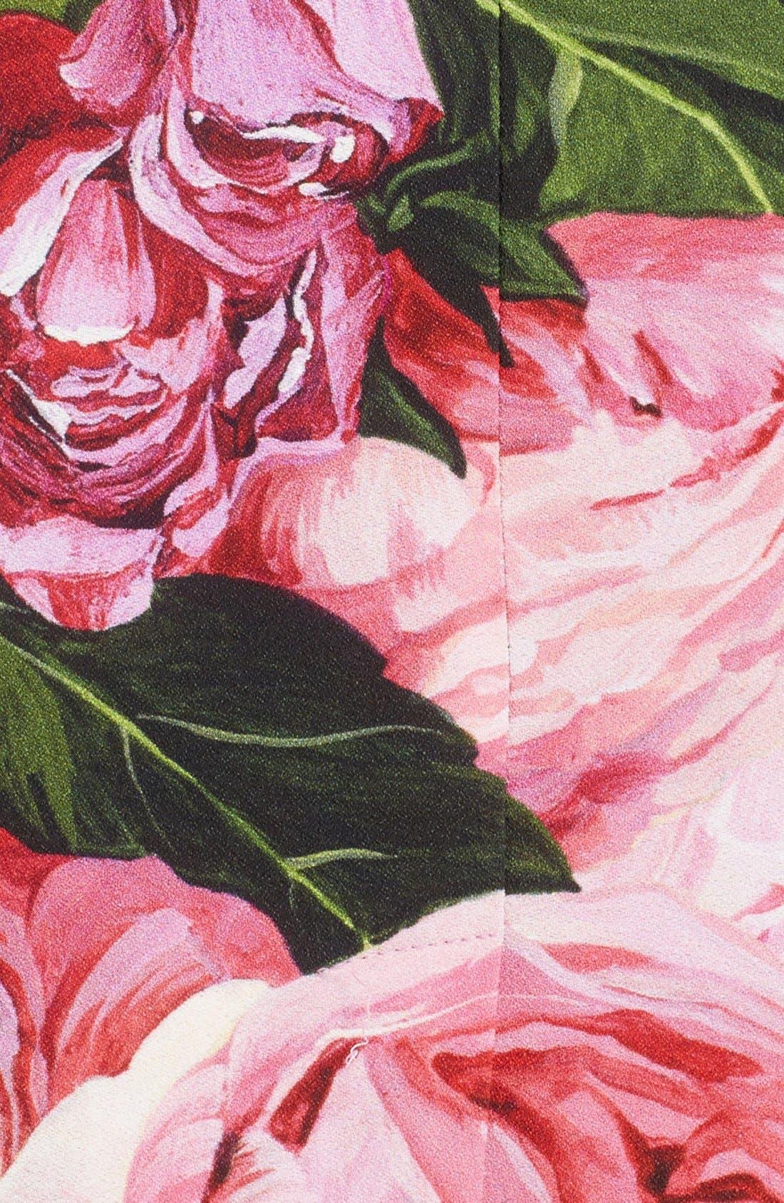 Alternate Image 3  - Dolce&Gabbana Rose Print Cady Pencil Skirt