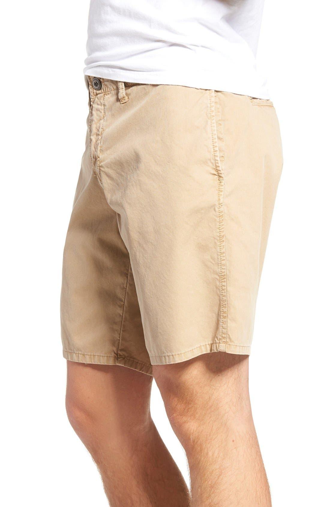 St. Martin Bedford Cord Shorts,                             Alternate thumbnail 3, color,                             Khaki
