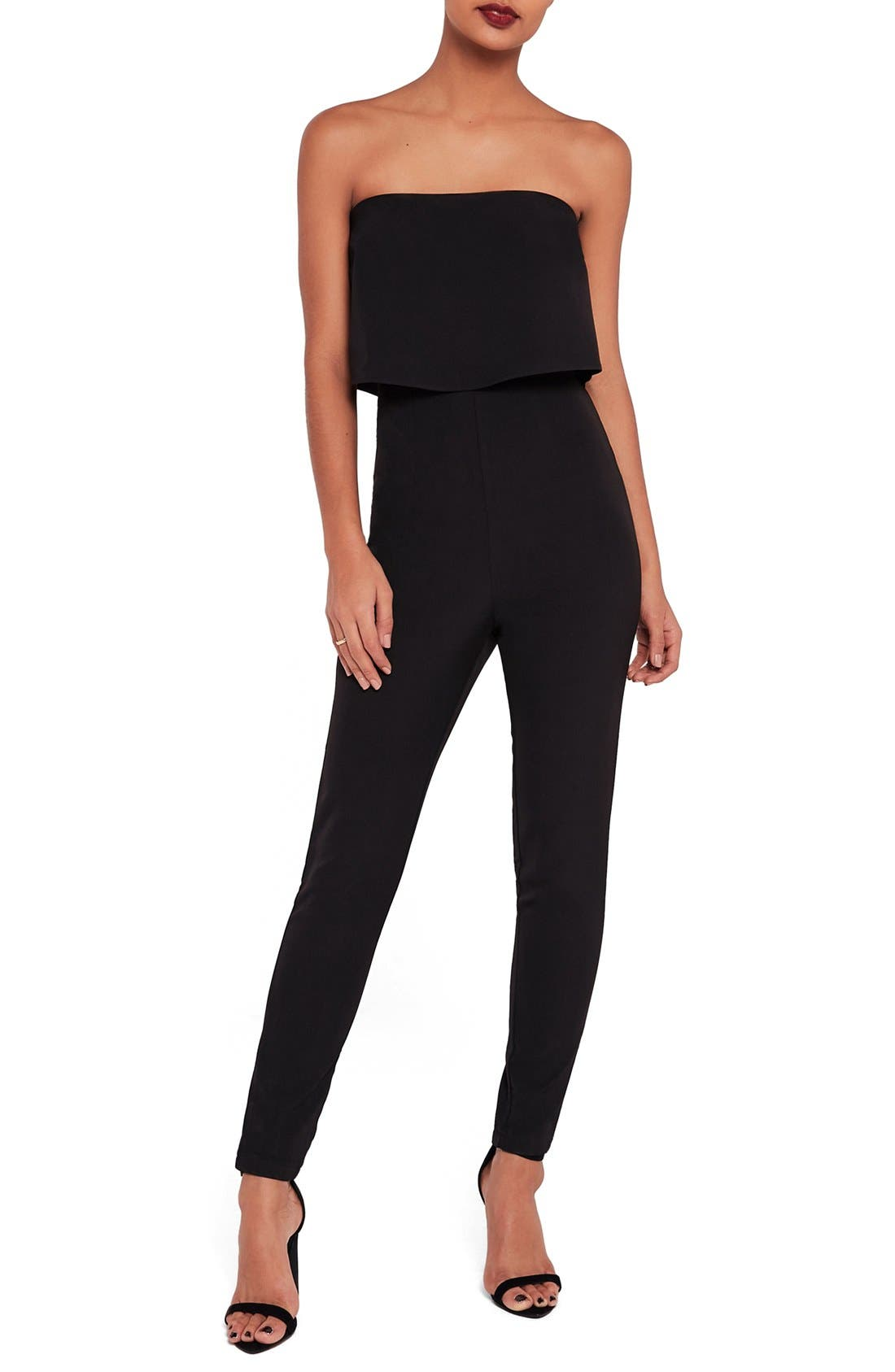Alternate Image 1 Selected - Missguided Strapless Jumpsuit