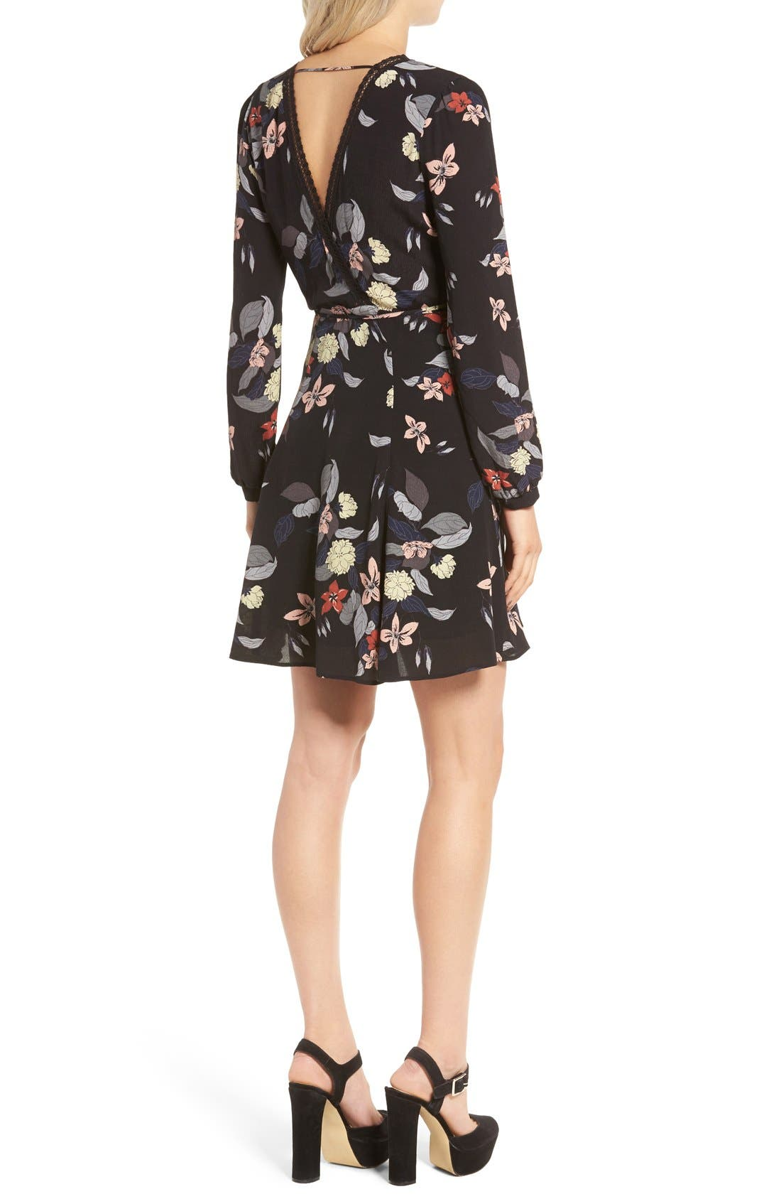 Alternate Image 2  - ASTR Floral Print Wrap Dress