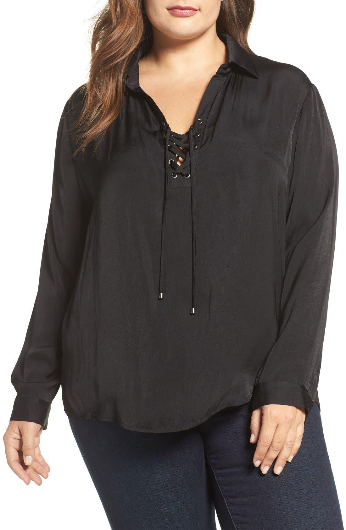 Tart Georgia Lace-Up Blouse (Plus Size)