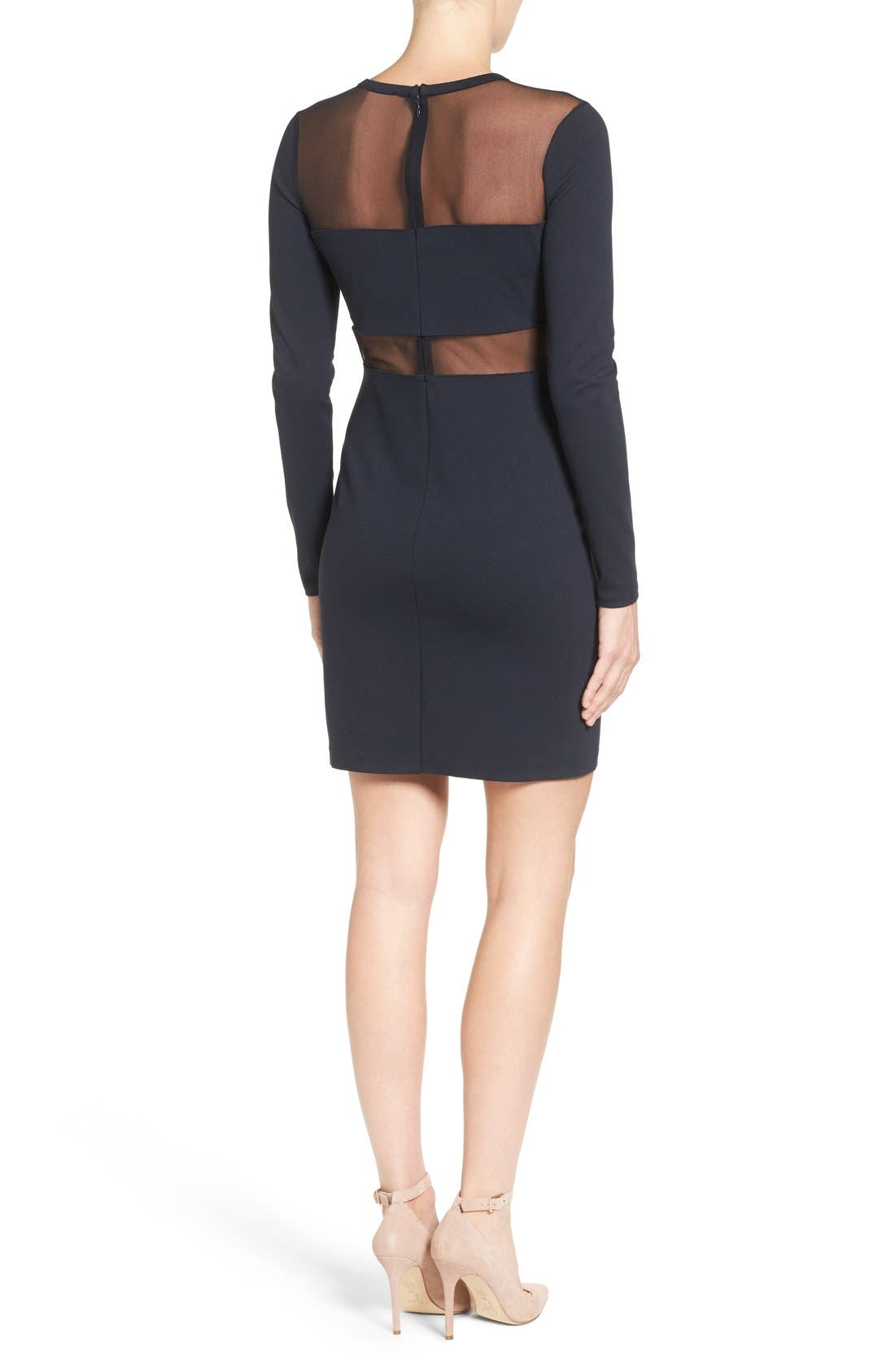 Alternate Image 2  - MICHAEL Michael Kors Mesh Panel Sheath Dress