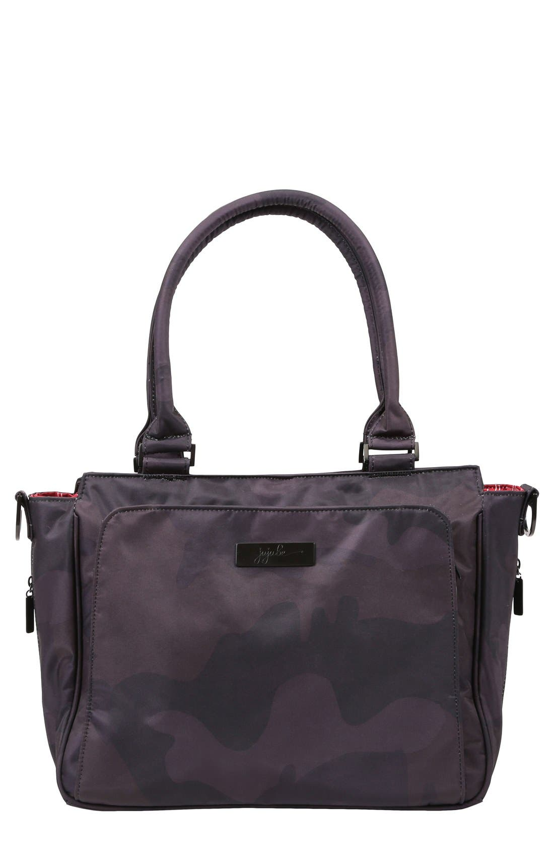 Alternate Image 1 Selected - Ju-Ju-Be 'Be Classy - Onyx Collection' Messenger Diaper Bag