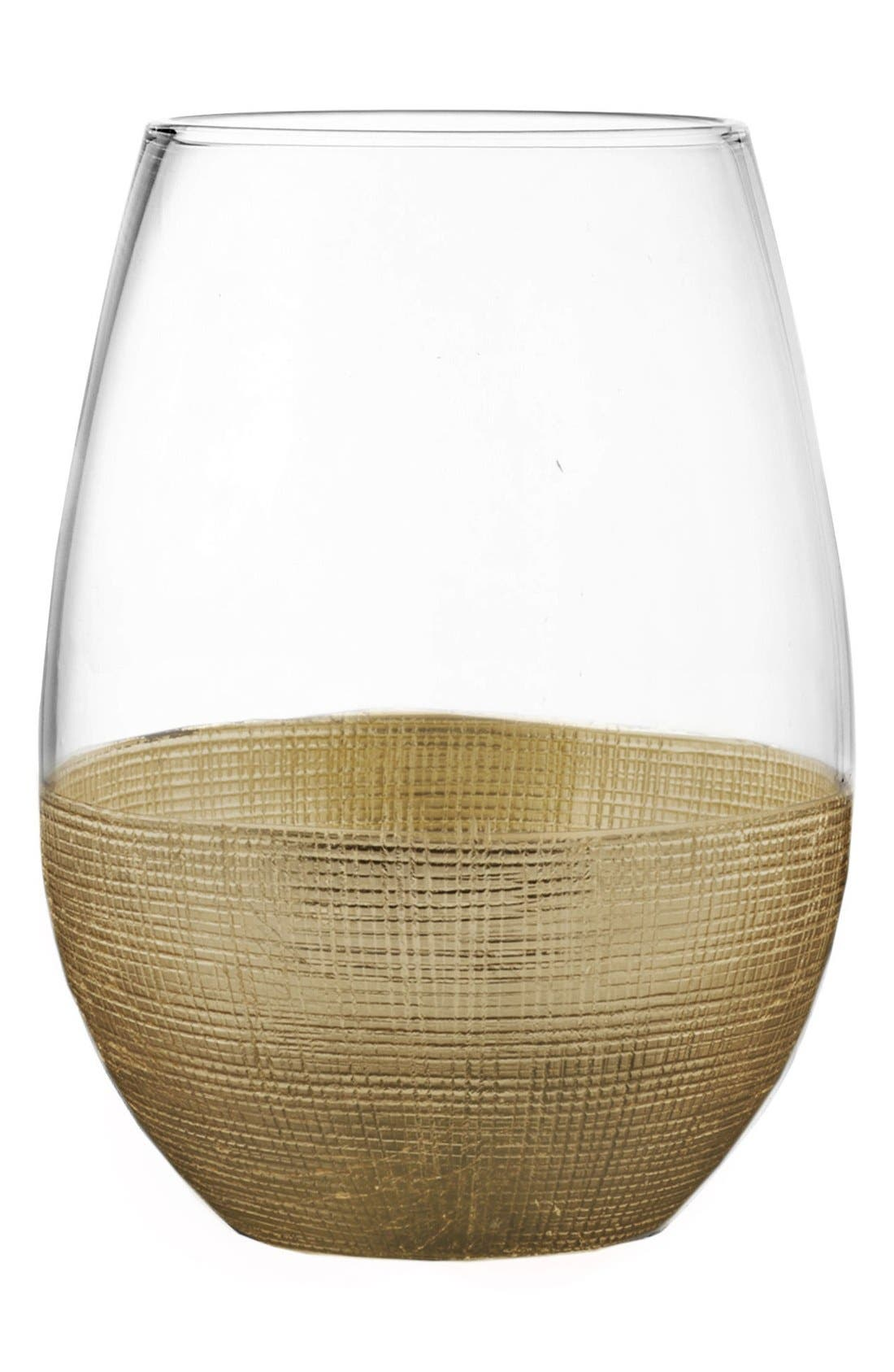 American Atelier Linen Set of 4 Stemless Wine Glasses