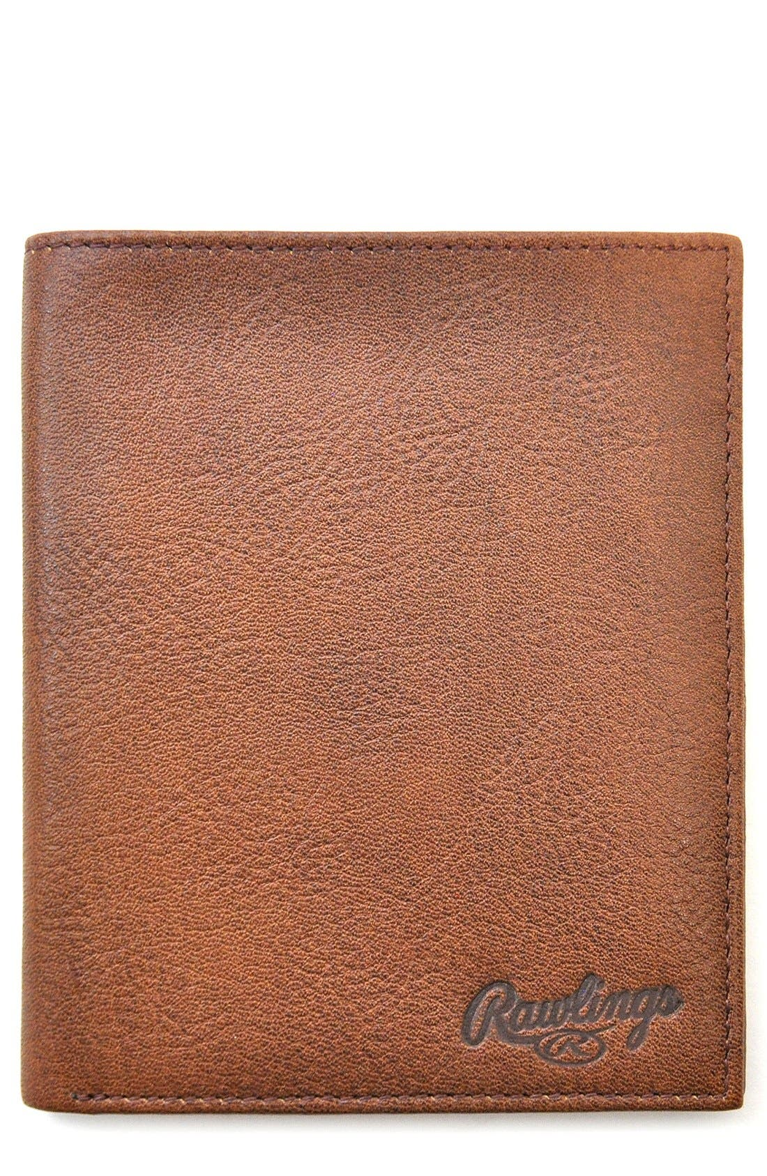 Triple Play Leather Executive Wallet,                         Main,                         color, Cognac