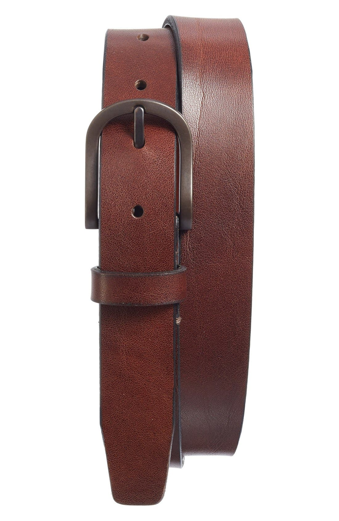 Alternate Image 1 Selected - Bosca Heavyweight Leather Belt