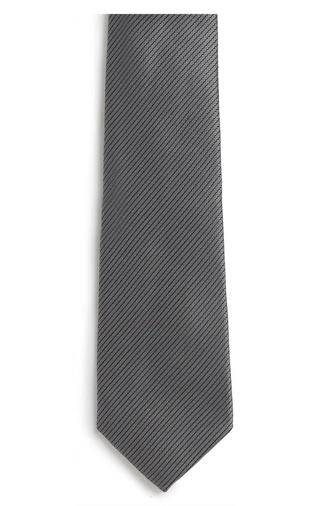 Alternate Image 2  - Topman Slim Stripe Tie