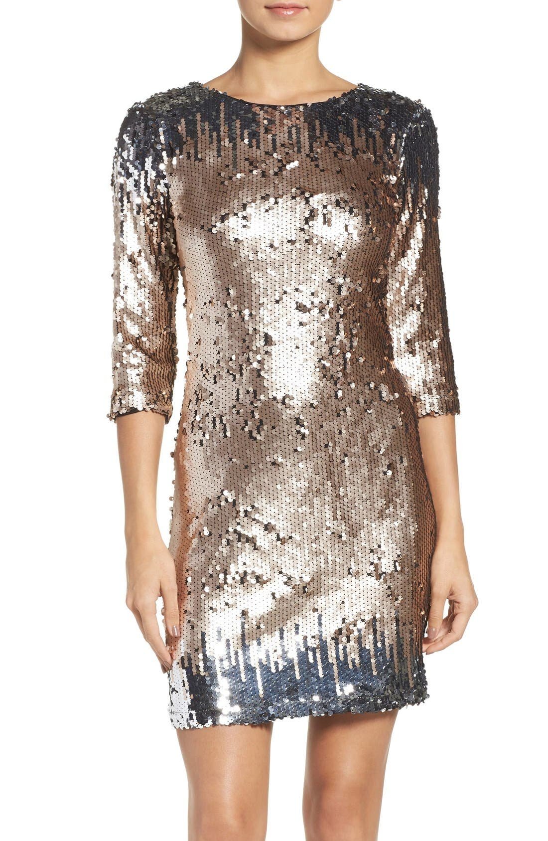 Main Image - BB Dakota Elise Sequin Body-Con Dress