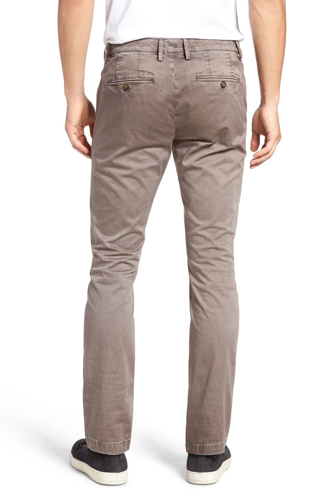 Enzyme Washed Chinos,                             Alternate thumbnail 2, color,                             Grey