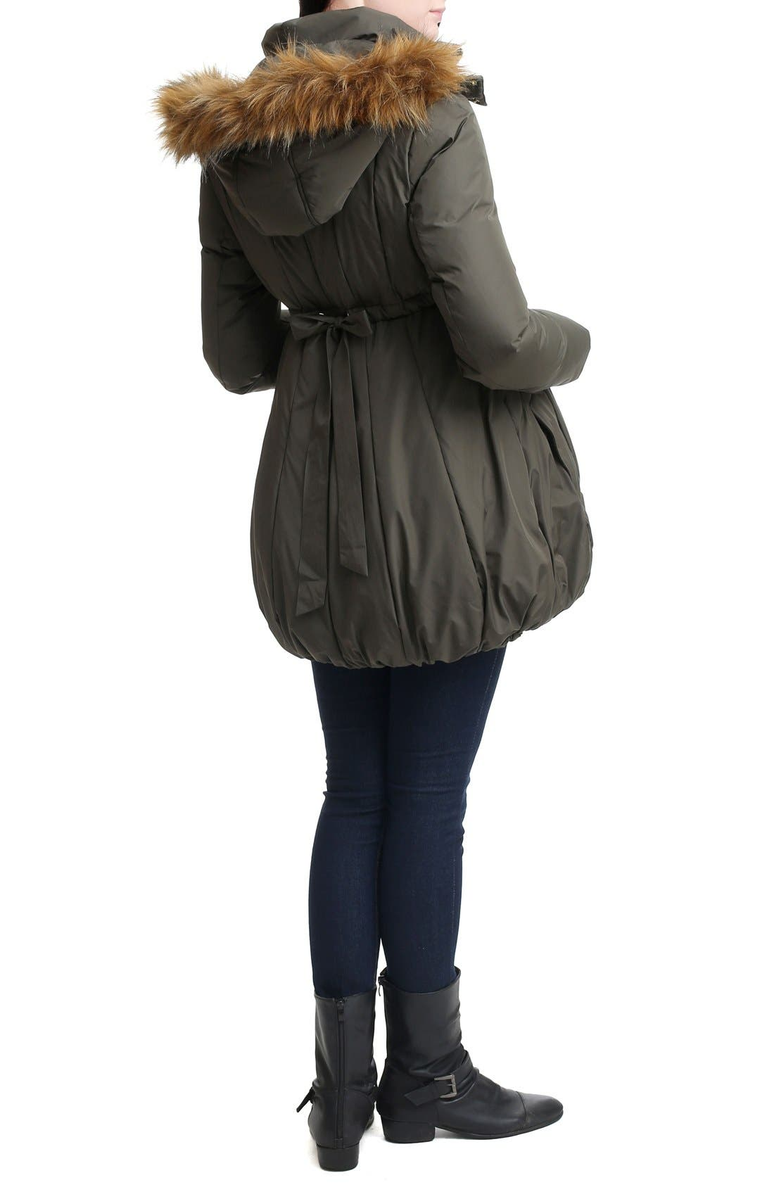 Dixie Down Maternity Parka,                             Alternate thumbnail 3, color,                             Loden