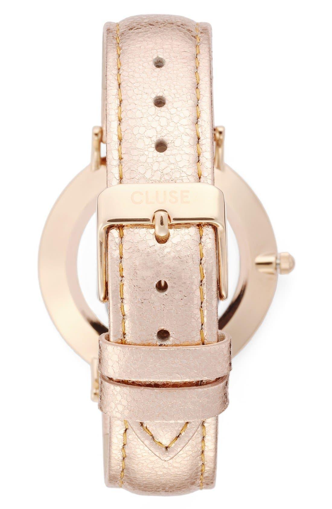 Alternate Image 2  - CLUSE La Boheme Metallic Strap Watch, 38mm