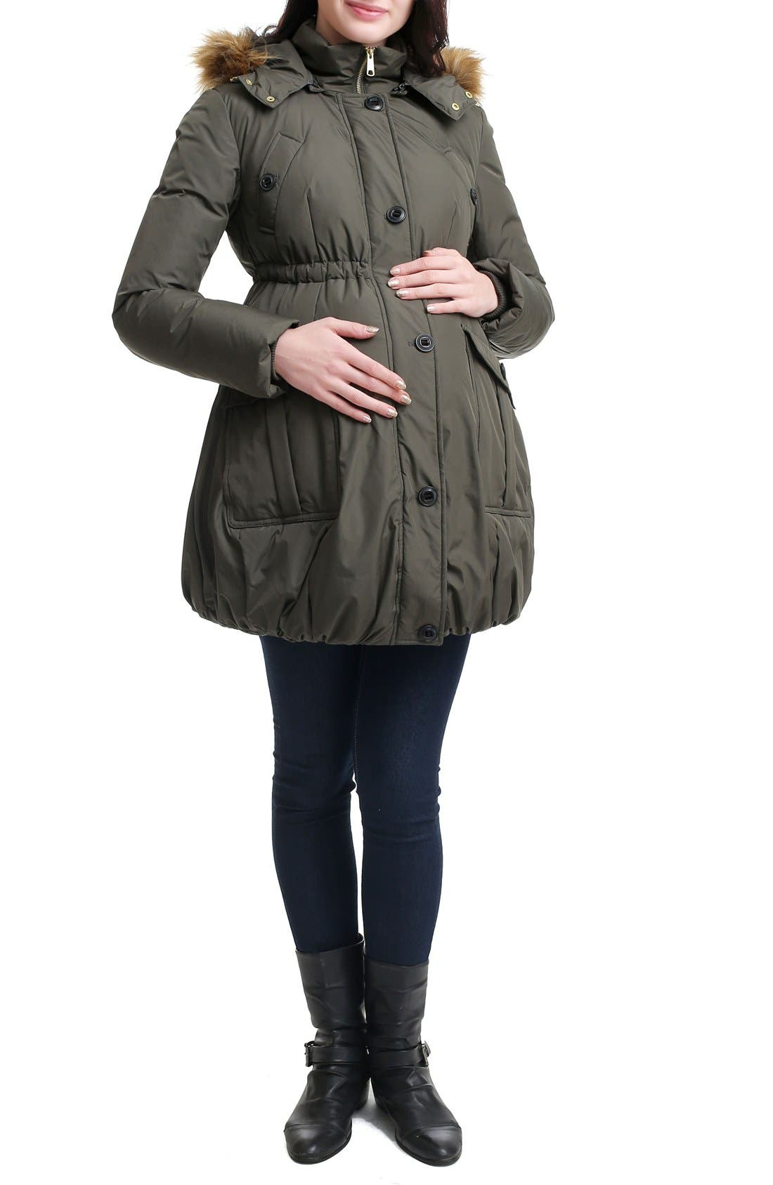 Dixie Down Maternity Parka,                         Main,                         color, Loden