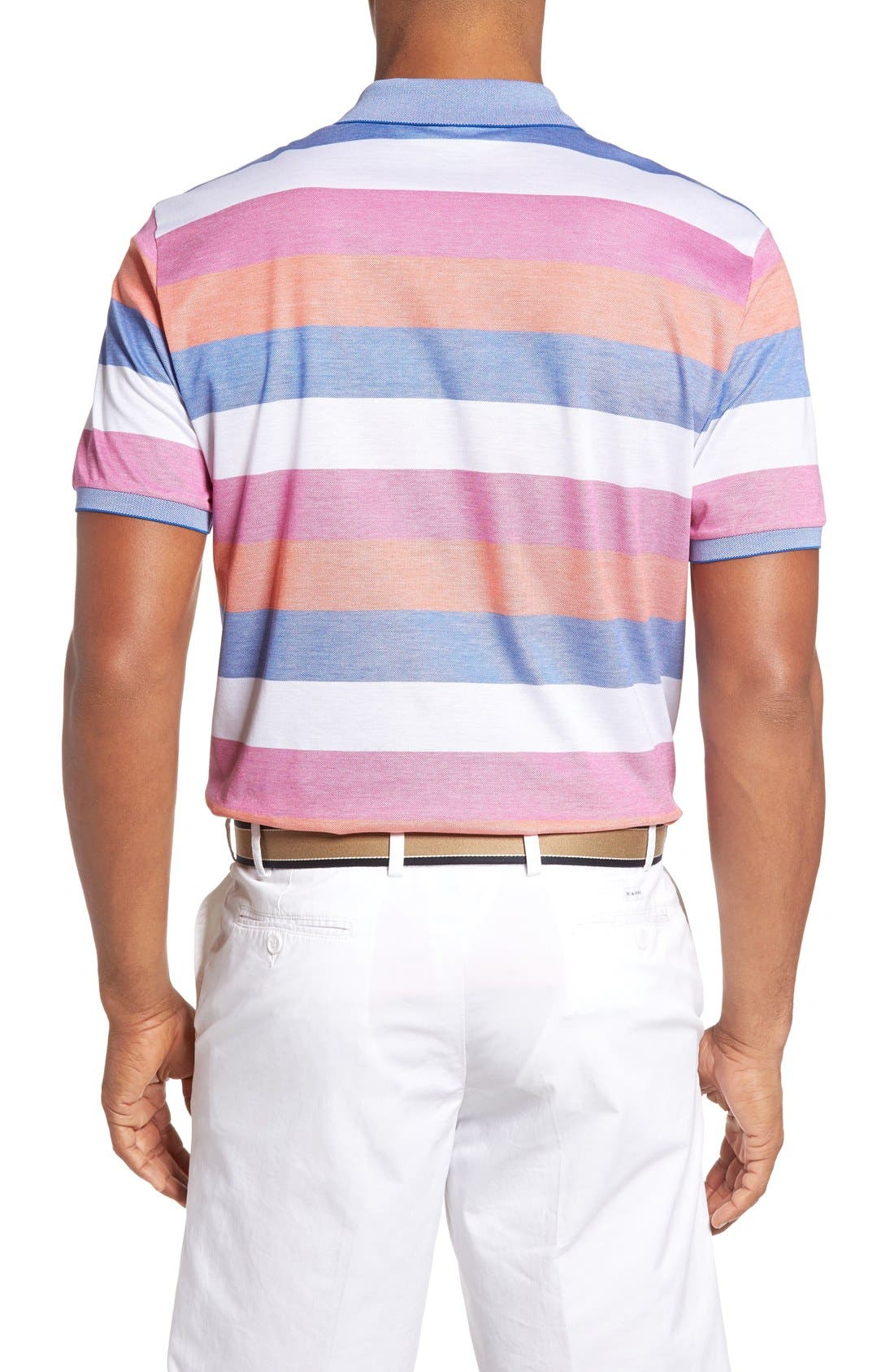Alternate Image 2  - Paul & Shark Stripe Piqué Polo