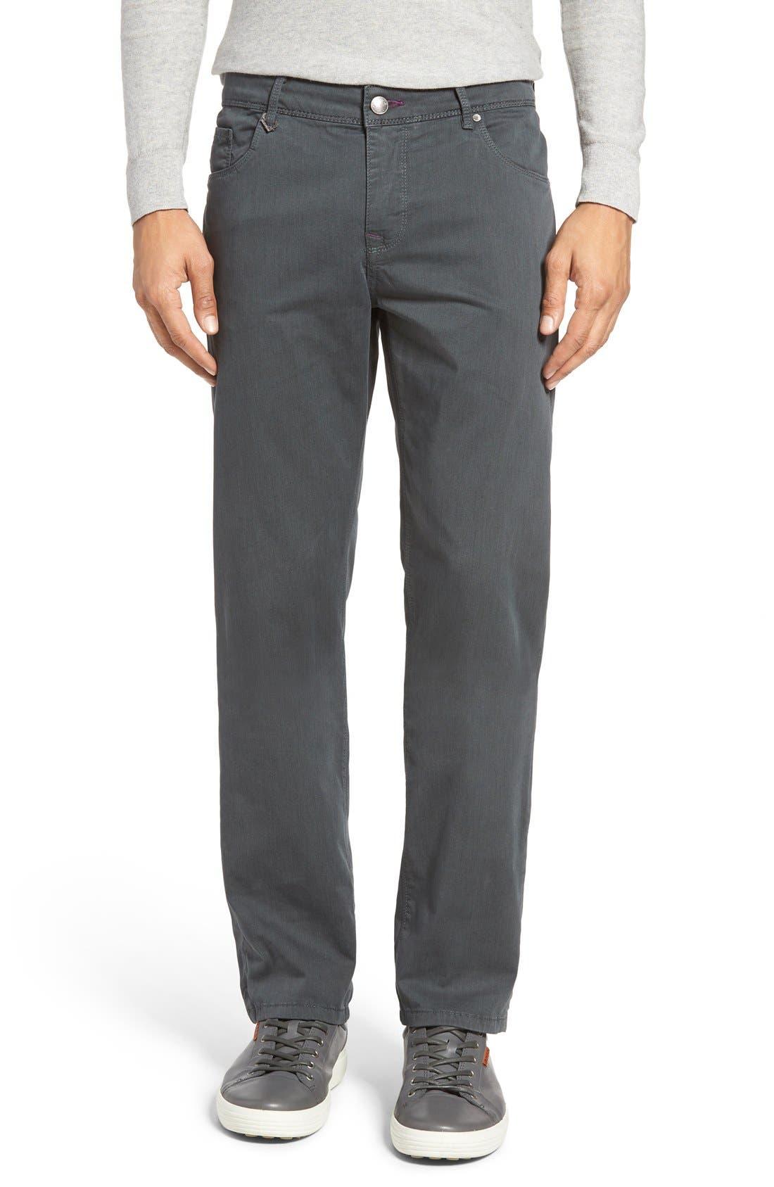 Slim Fit Five-Pocket Pants,                         Main,                         color, Charcoal