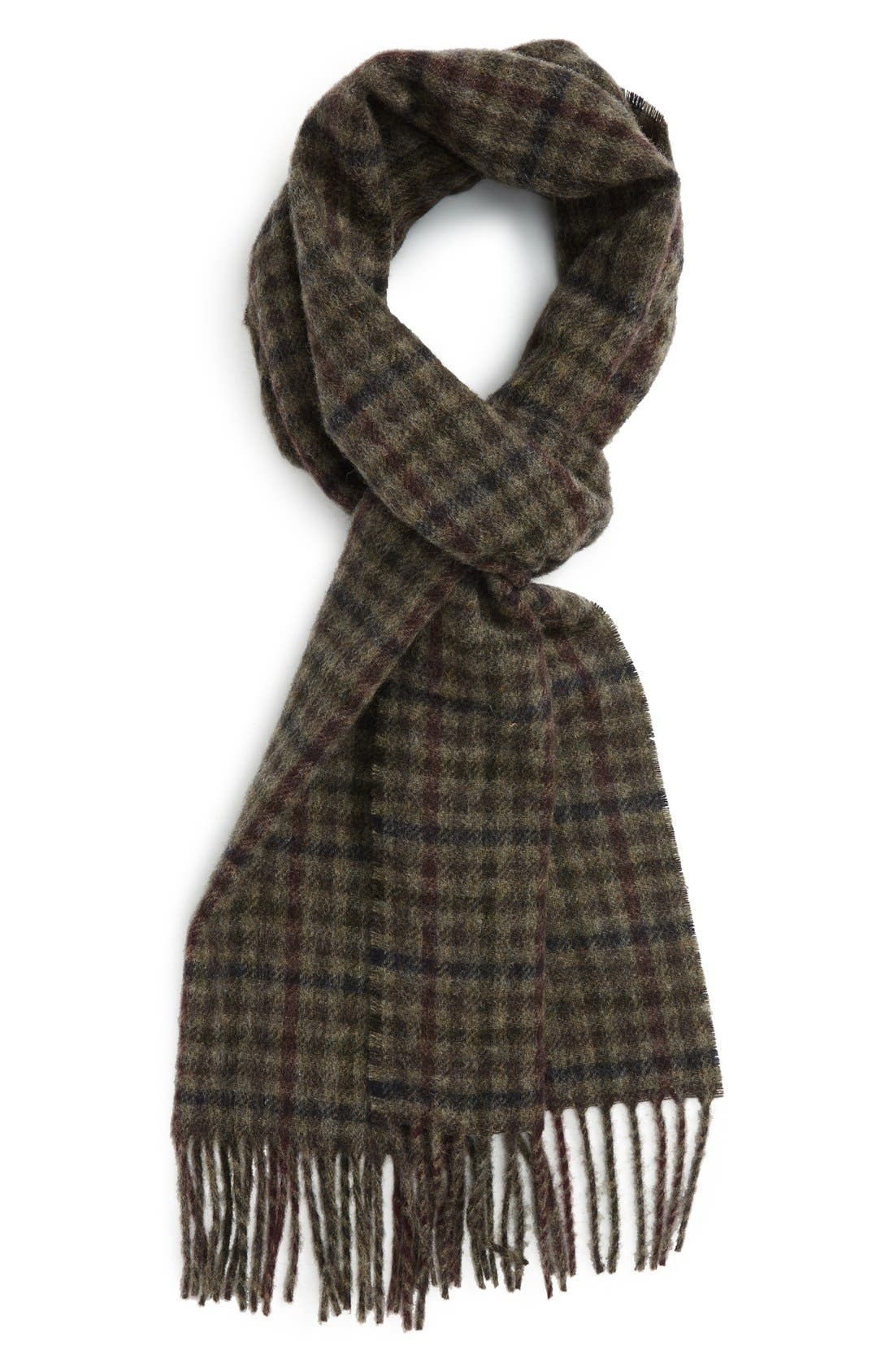 Barbour Houghton Check Wool Scarf