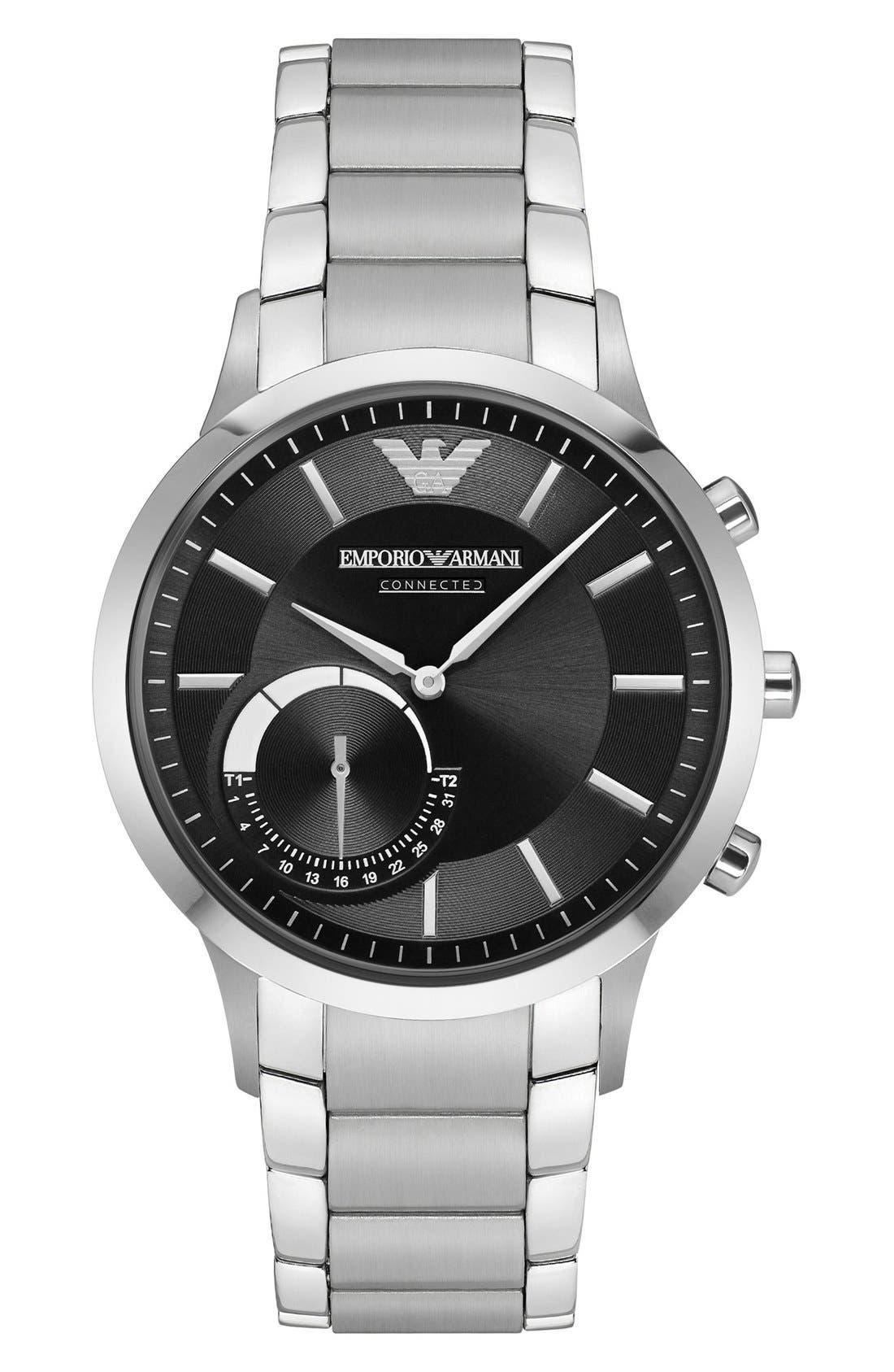 Emporio Armani Bracelet Hybrid Smart Watch, 43mm