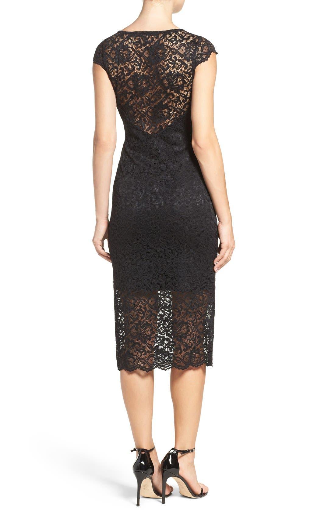 Alternate Image 2  - Fraiche by J Lace Midi Dress